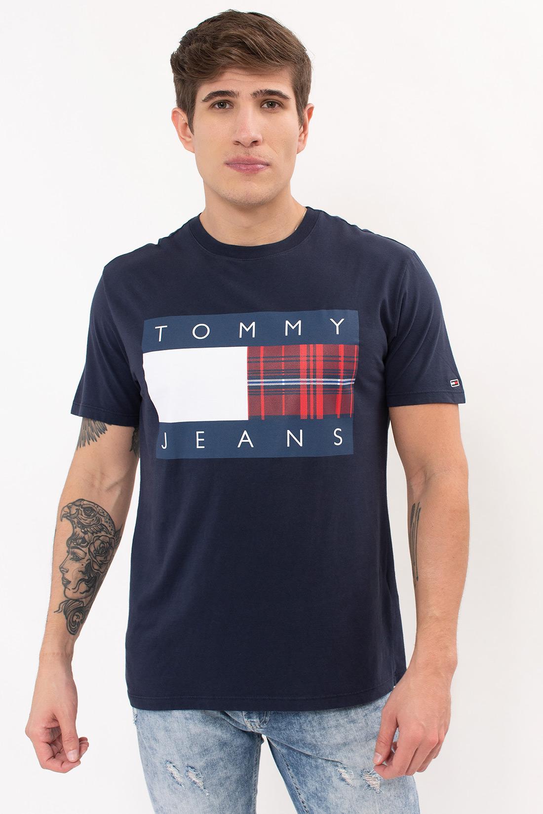 Camiseta Mc Tommy Hilfiger Centre Flag