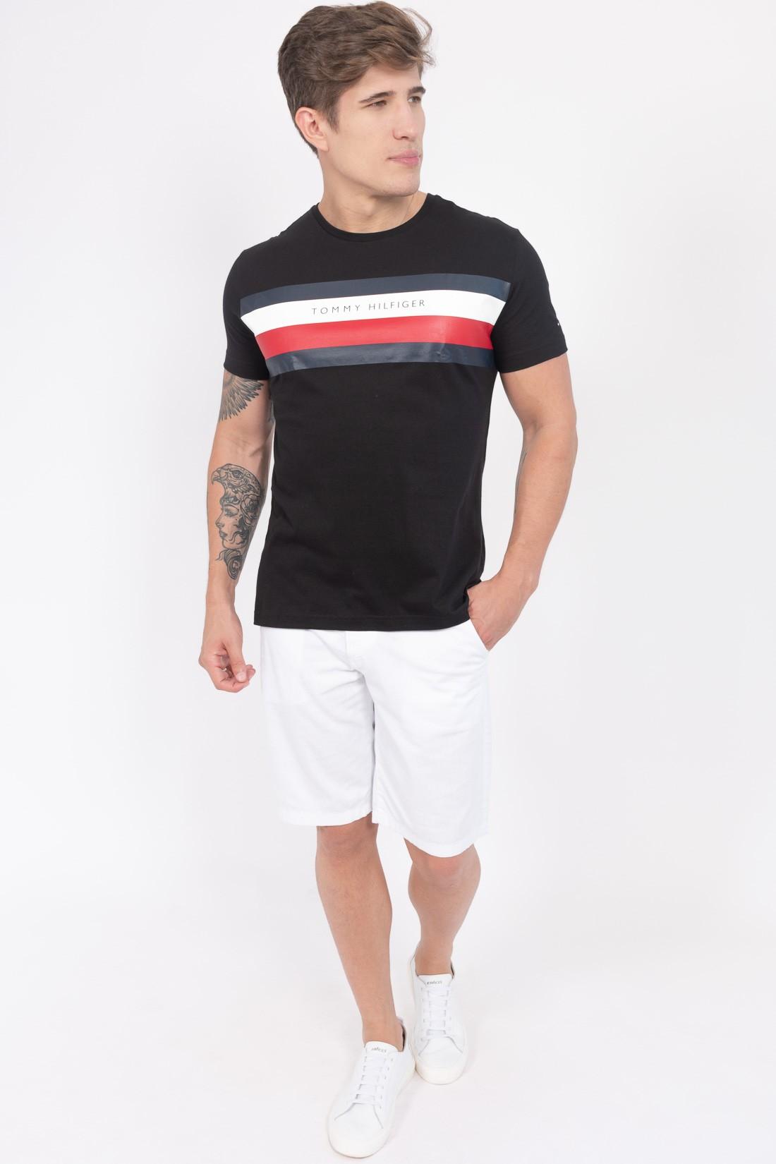 Camiseta Mc Tommy Hilfiger Faixas