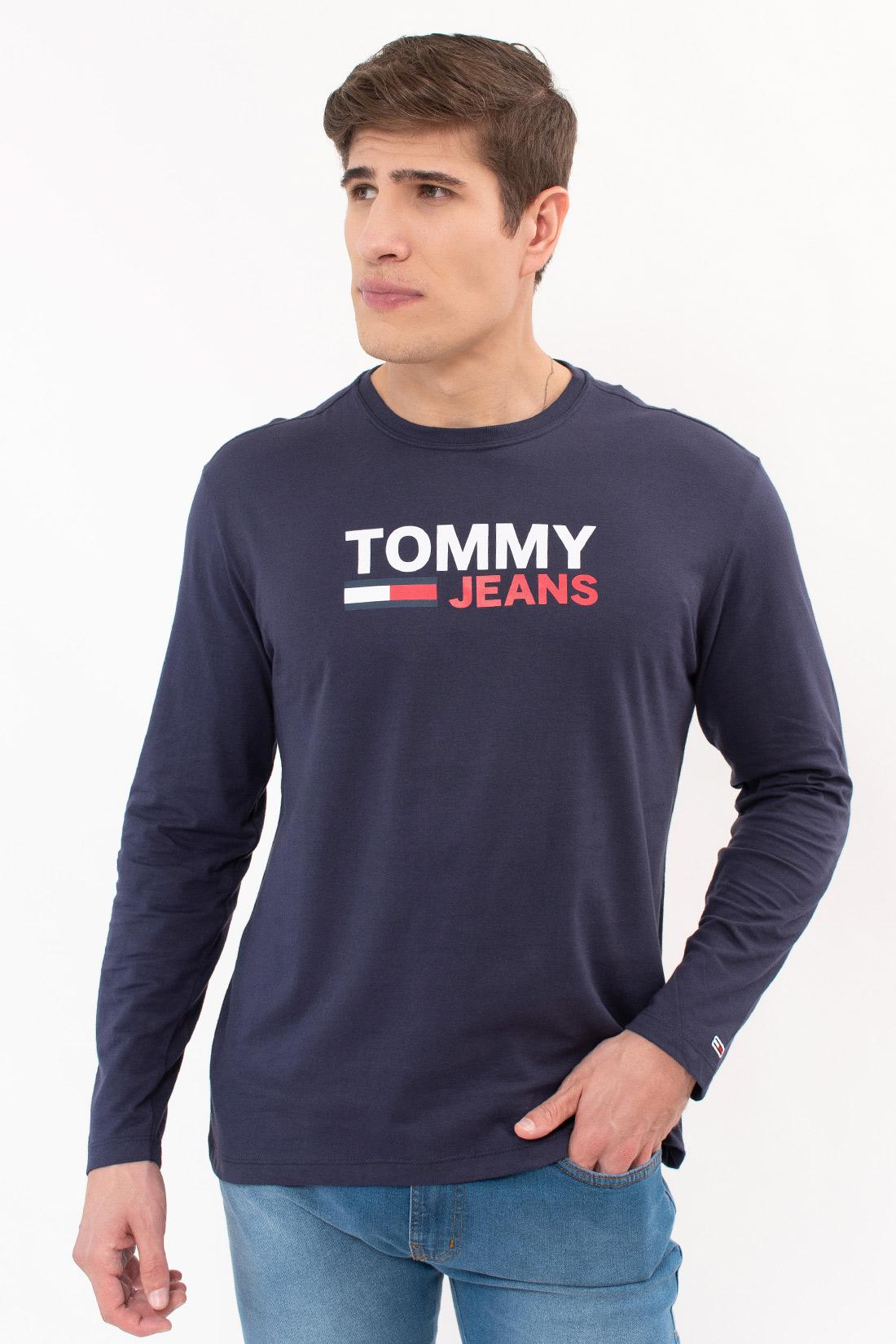 Camiseta Ml Tommy Hilfiger Logo Frontal