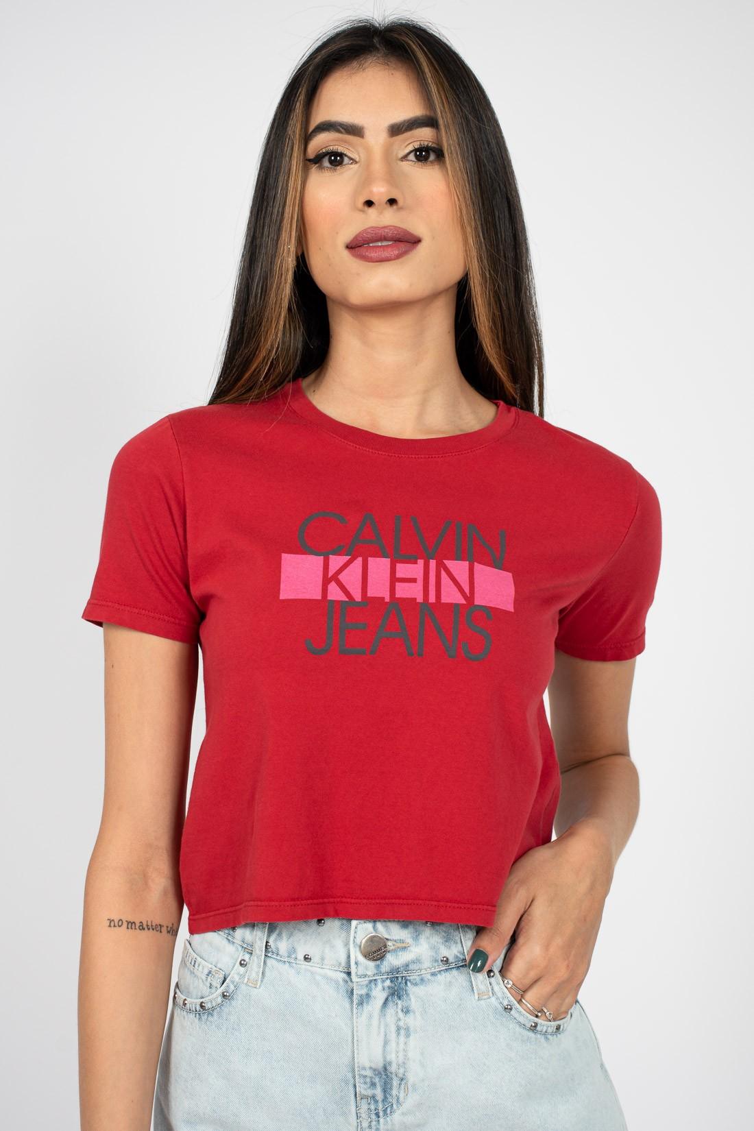 Cropped Calvin Klein Logo Faixa