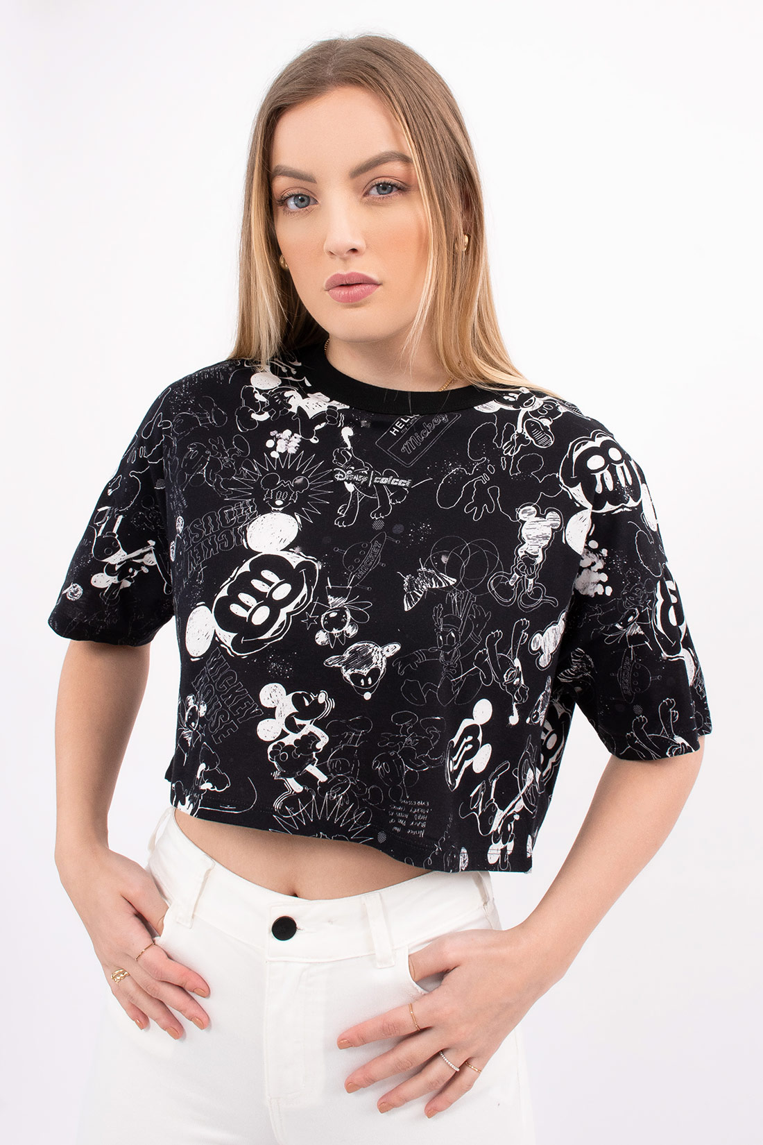Cropped Colcci Sketcht Mickey