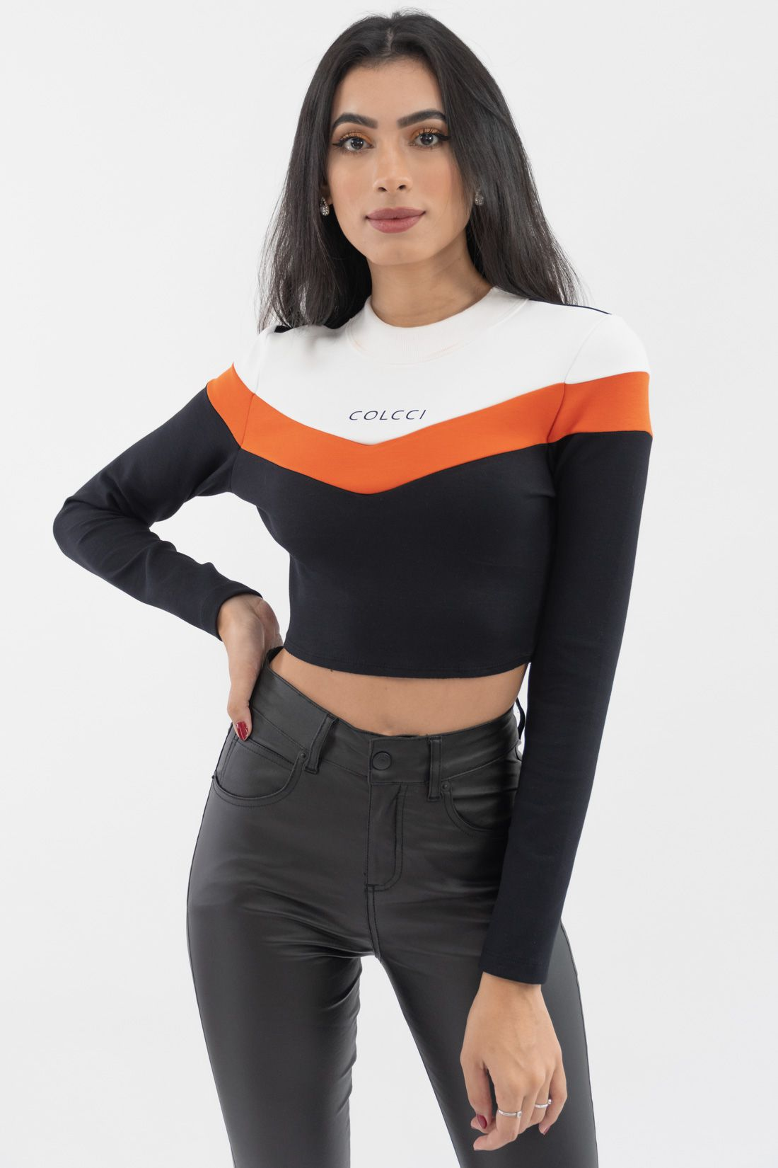 Cropped Ml Colcci Tricolor