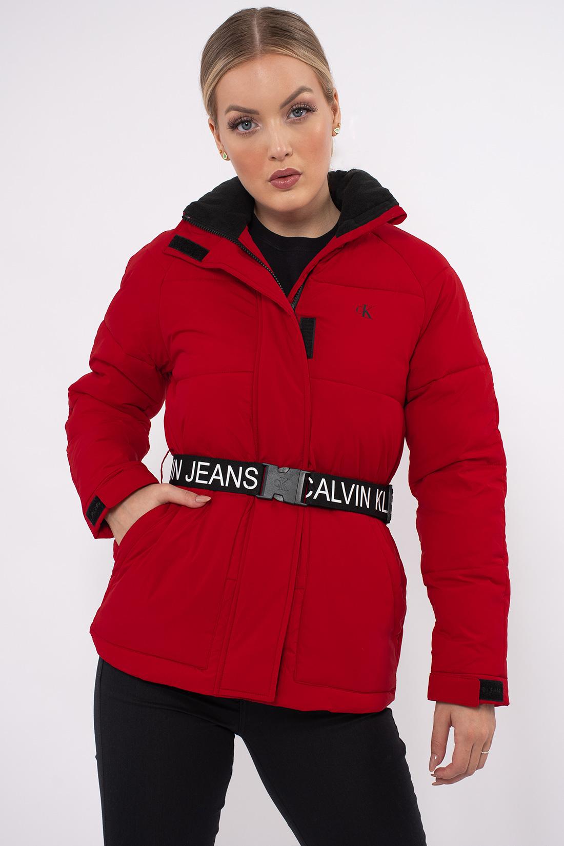 Jaqueta Calvin Klein Matelasse Cinto Logo
