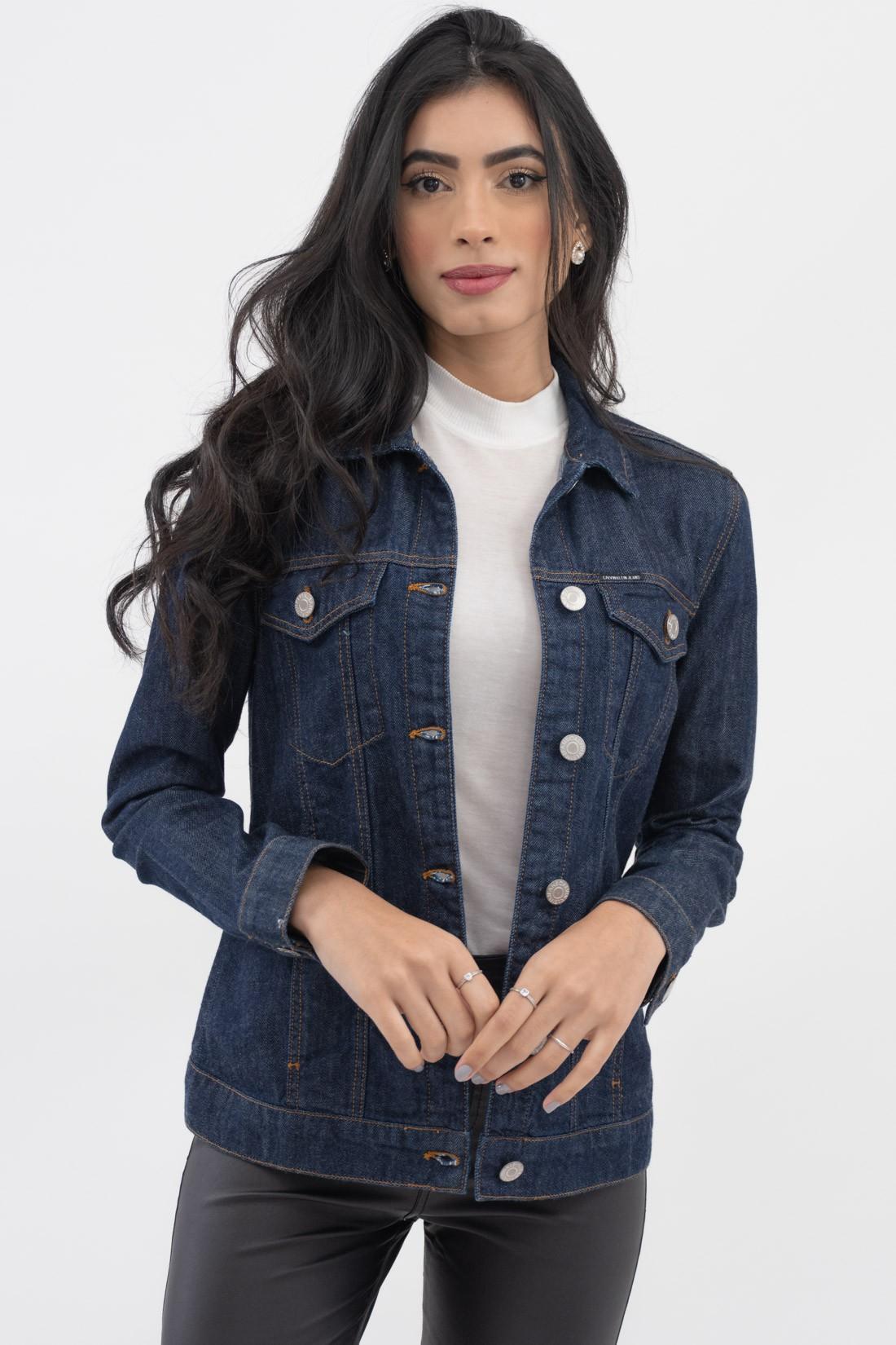 Jaqueta Jeans Calvin Klein Bordada