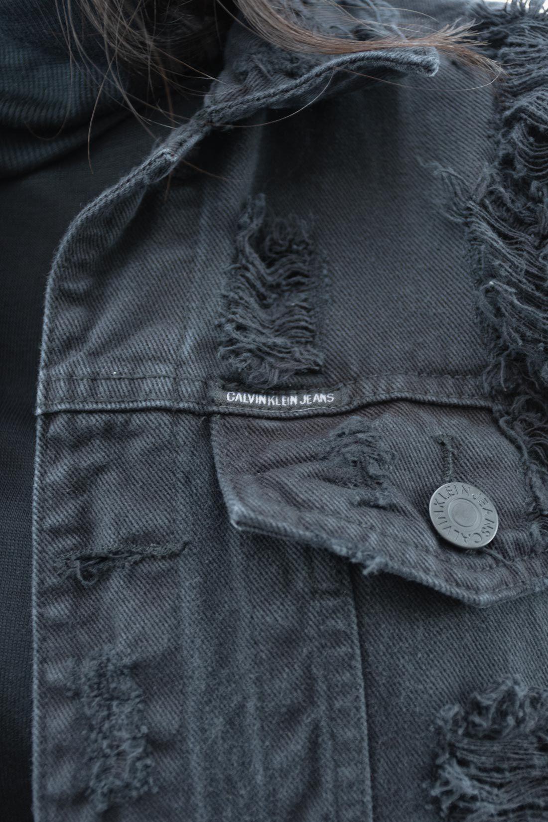 Jaqueta Jeans Calvin Klein Destroyed