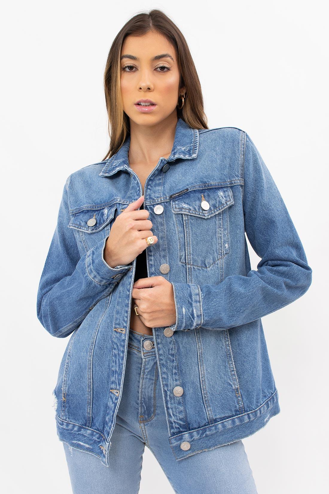 Jaqueta Jeans Calvin Klein Trucker Puidos