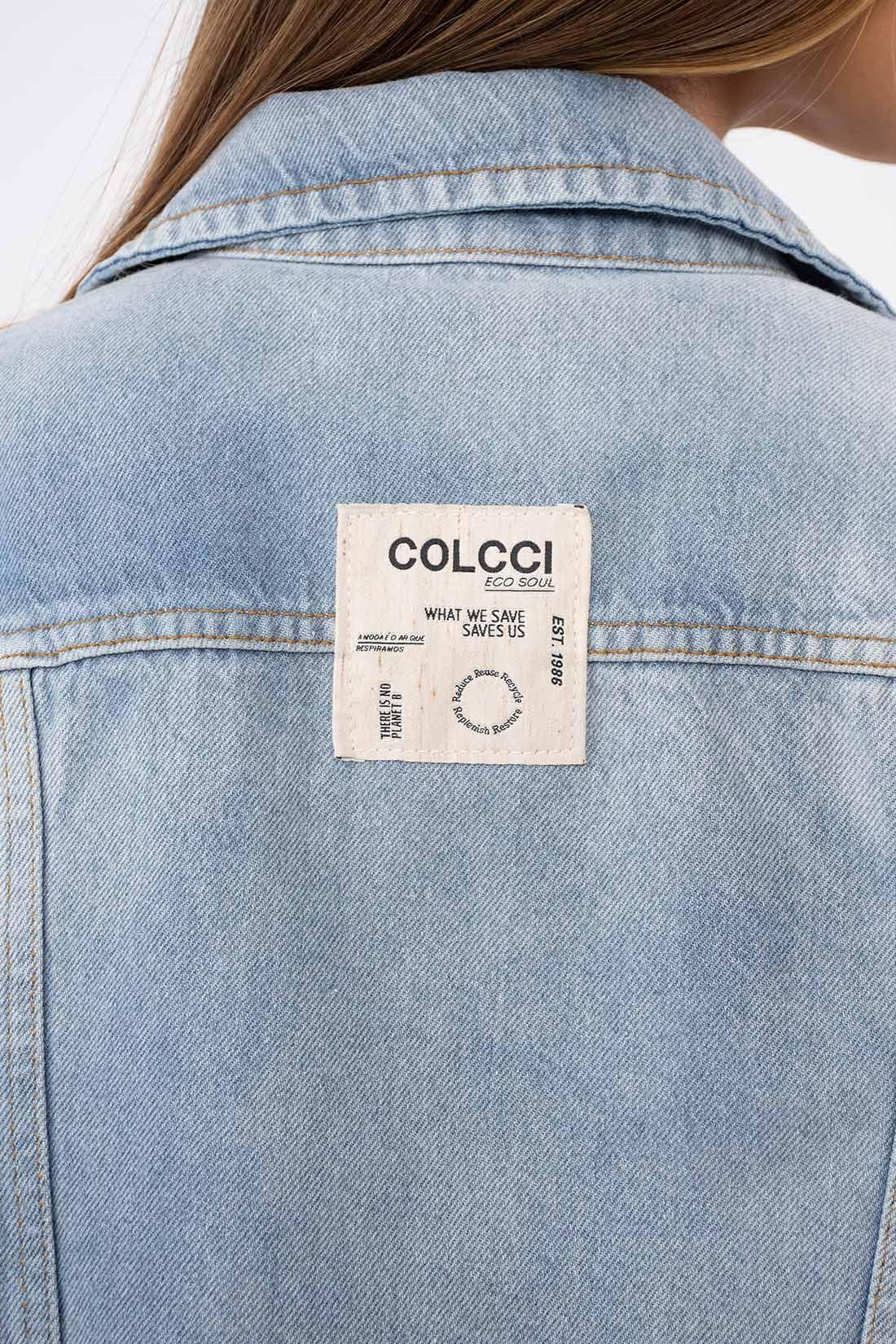 Jaqueta Jeans Colcci Etiqueta Costa
