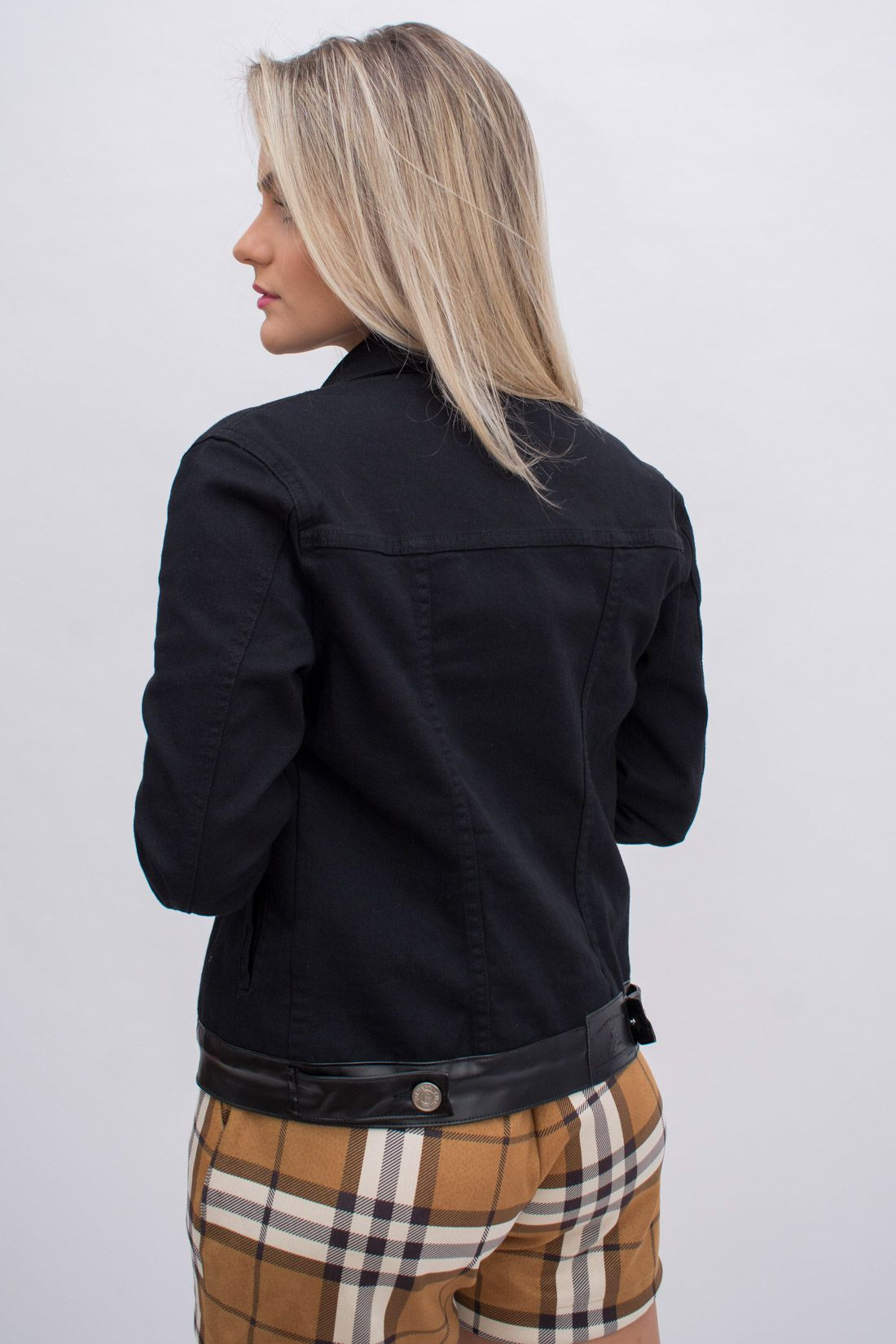 Jaqueta Jeans Slywear Sarja Courinho
