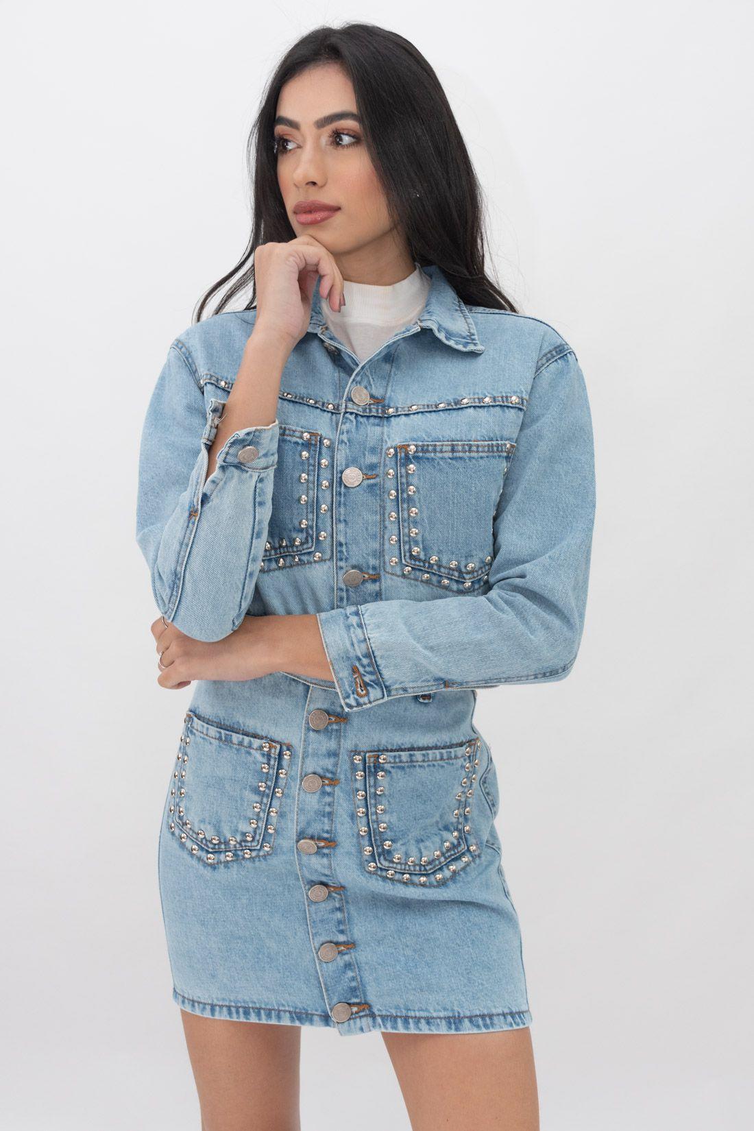 Jaqueta Jeans Slywear Tachas