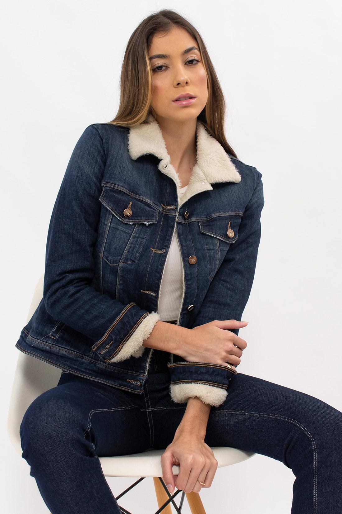 Jaqueta Jeans Yexx Forrada Pelinho