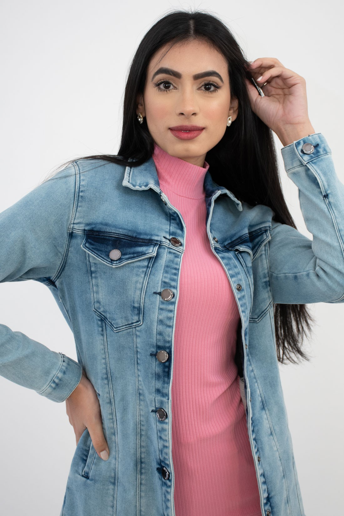 Jaqueta Jeans Yexx Longa