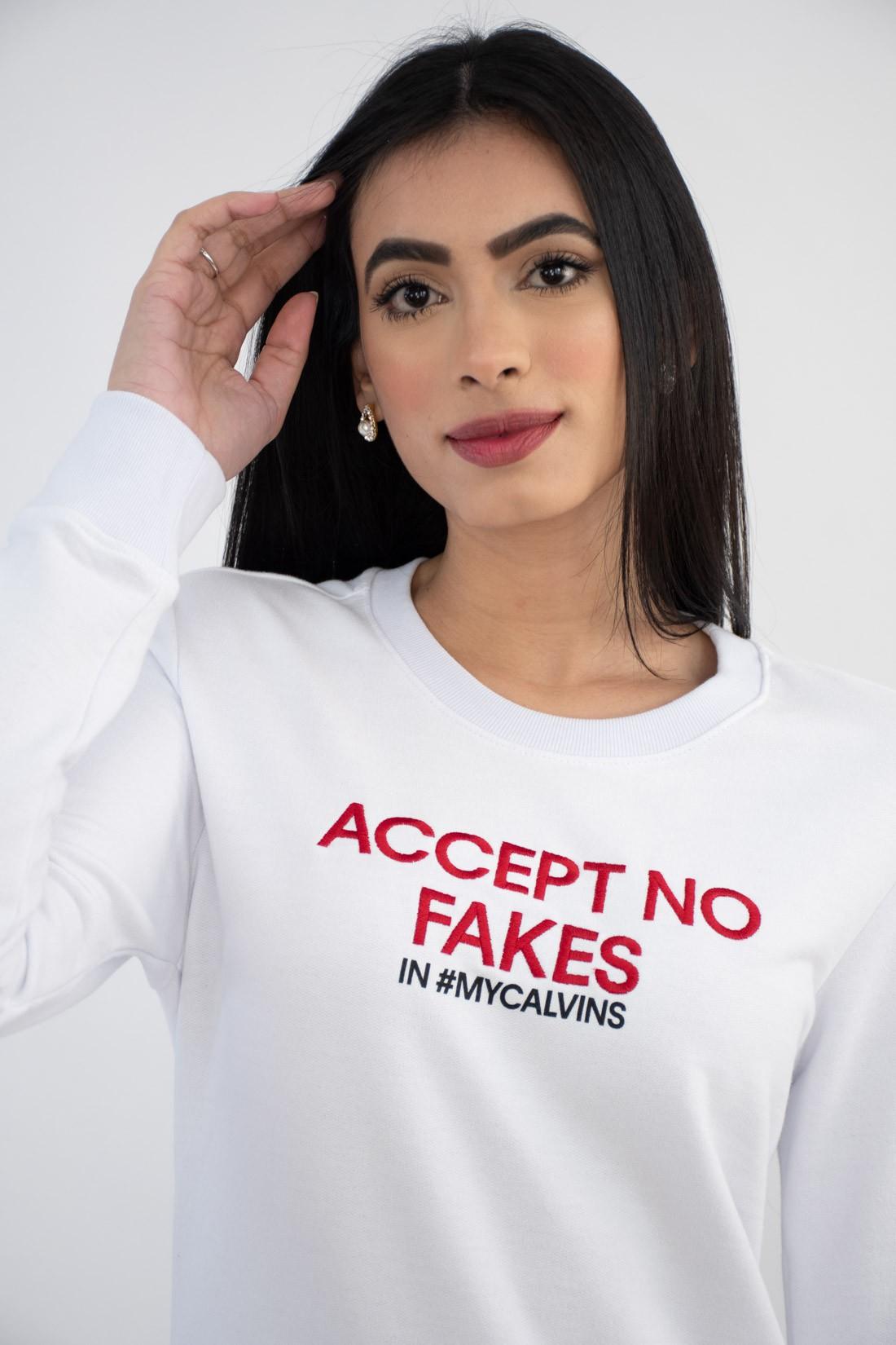 Moletom Calvin Klein Accept No Fakes