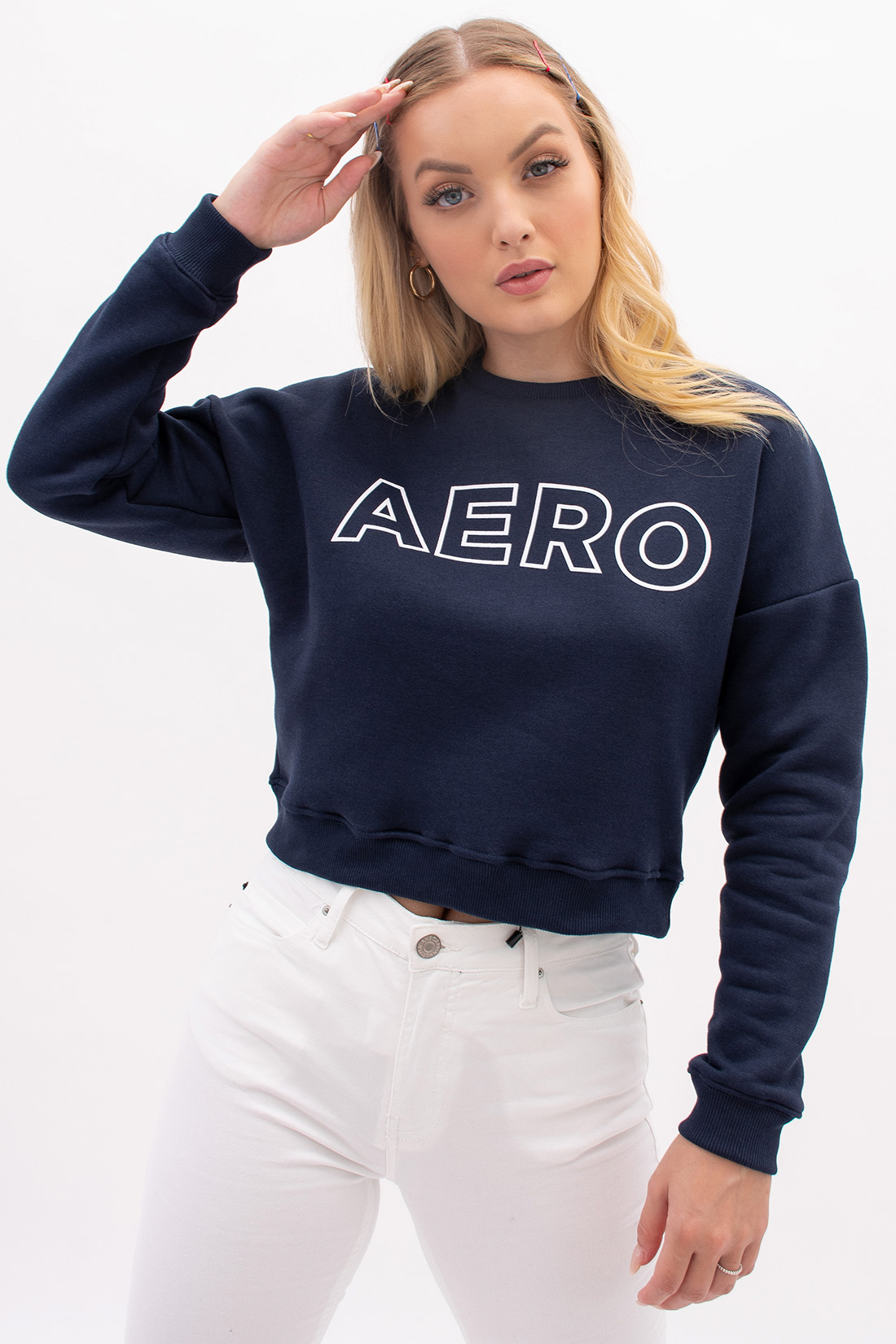 Moletom Cropped Aeropostale Big Logo