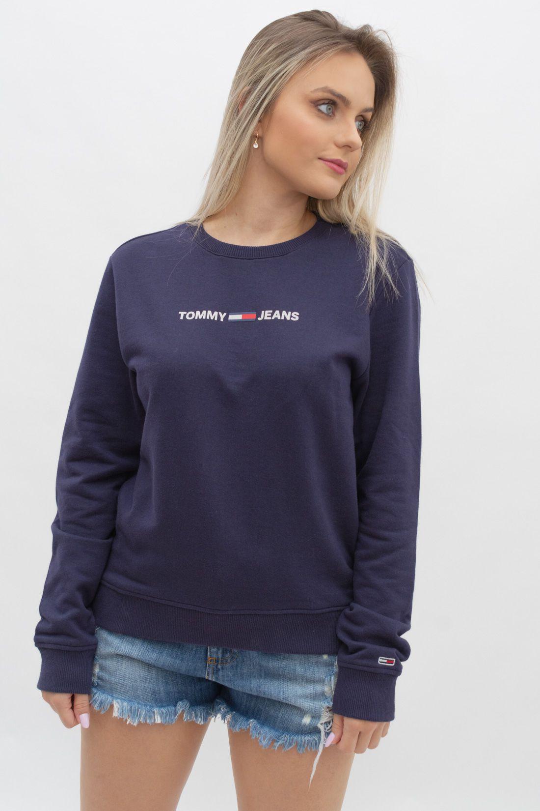 Moletom Tommy Hilfiger Essential Logo Sweatshirt