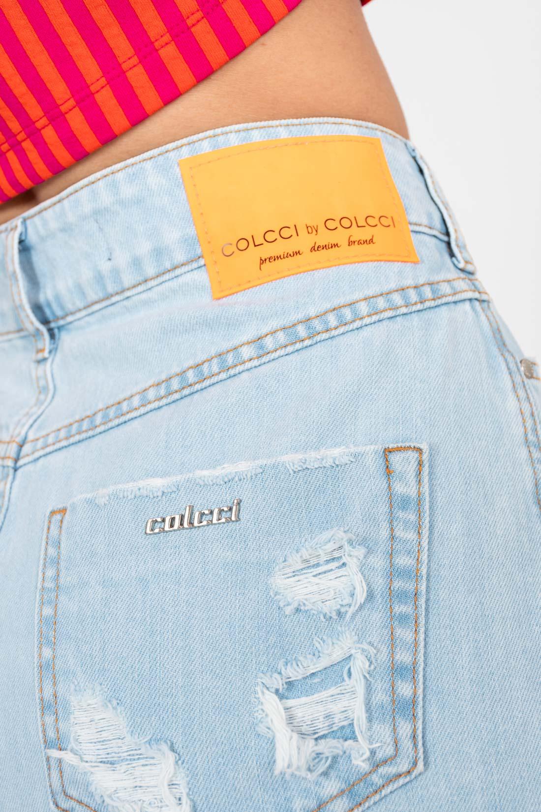 Saia Jeans Colcci Destroyed