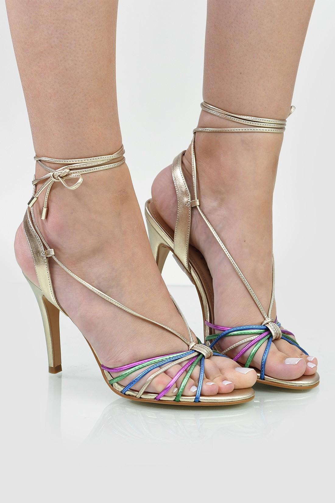 Sandalia Salto Divalesi Metallic