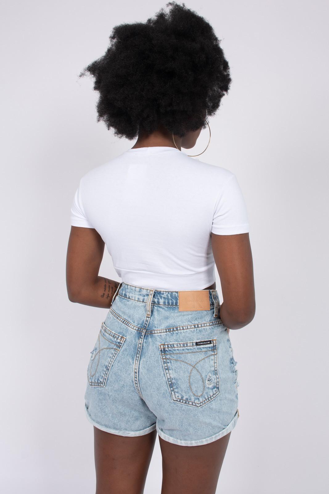 Shorts Jeans Calvin Klein Barra Dobrada