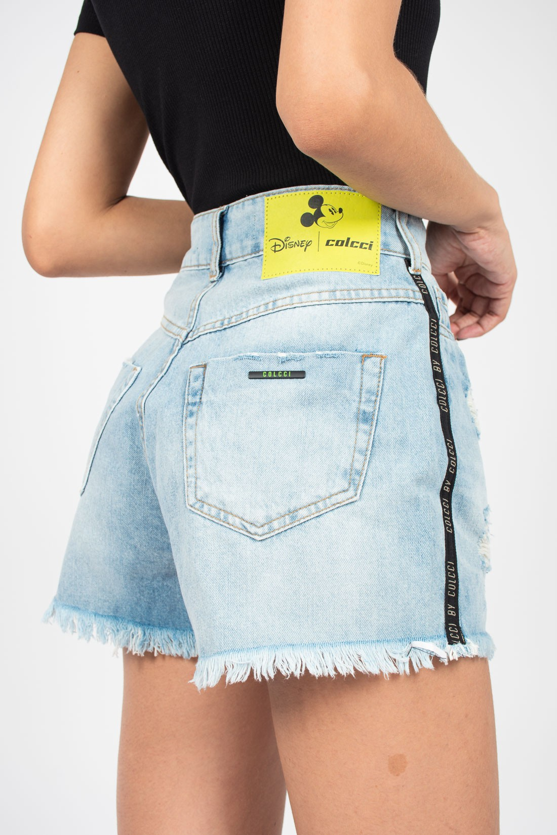 Shorts Jeans Colcci Mickey