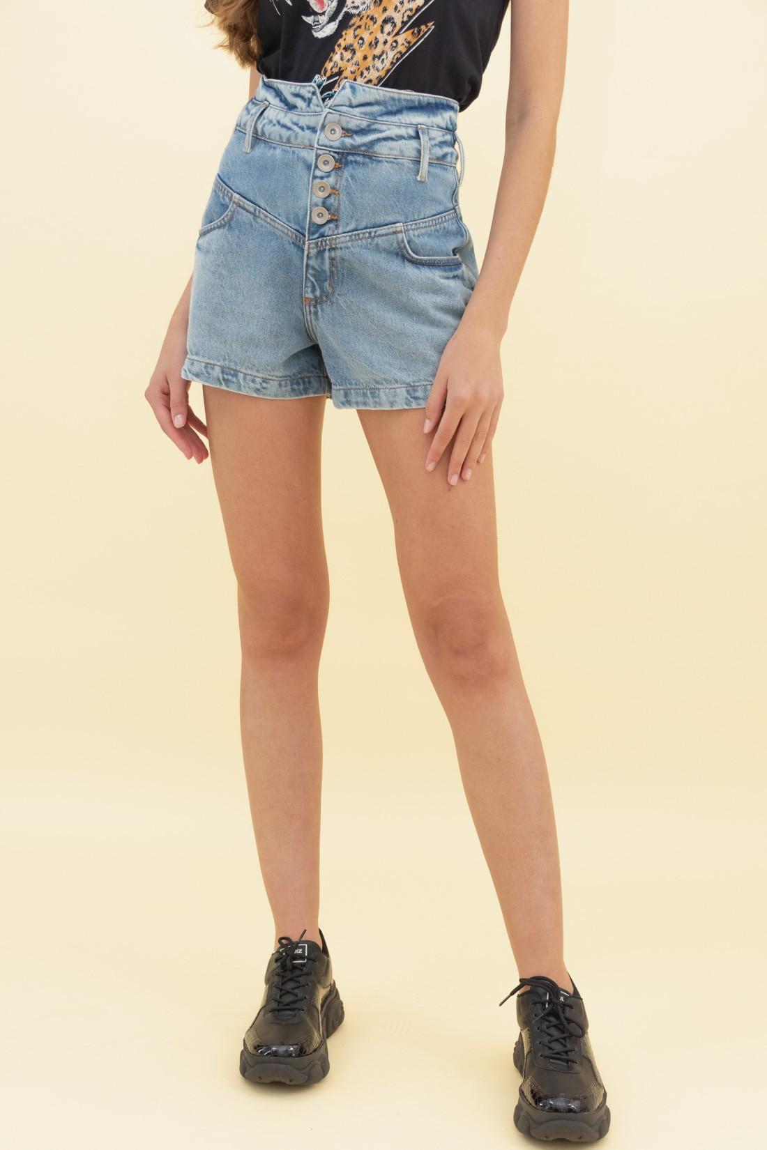 Shorts Jeans Colcci Pink