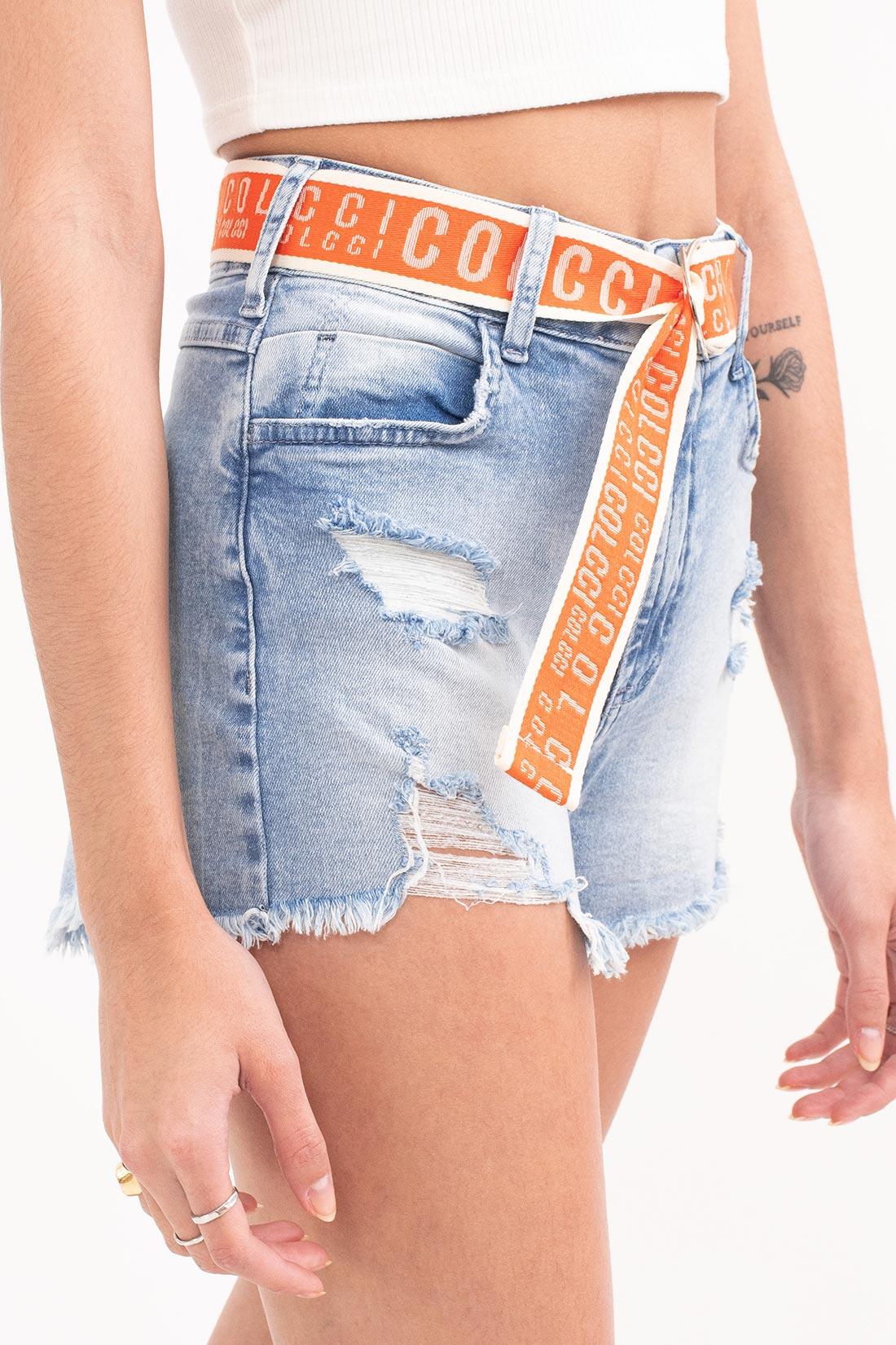 Shorts Jeans Colcci Tay Com Cinto