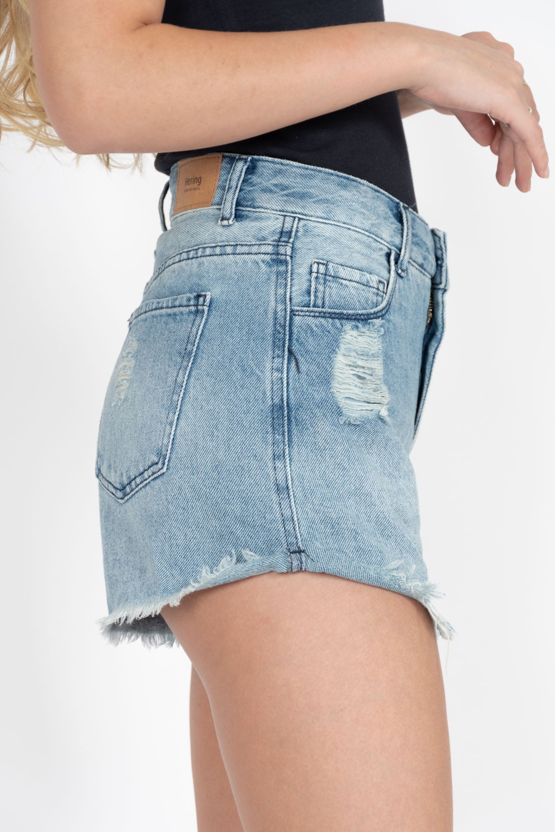 Shorts Jeans Hering Barra Desfiada