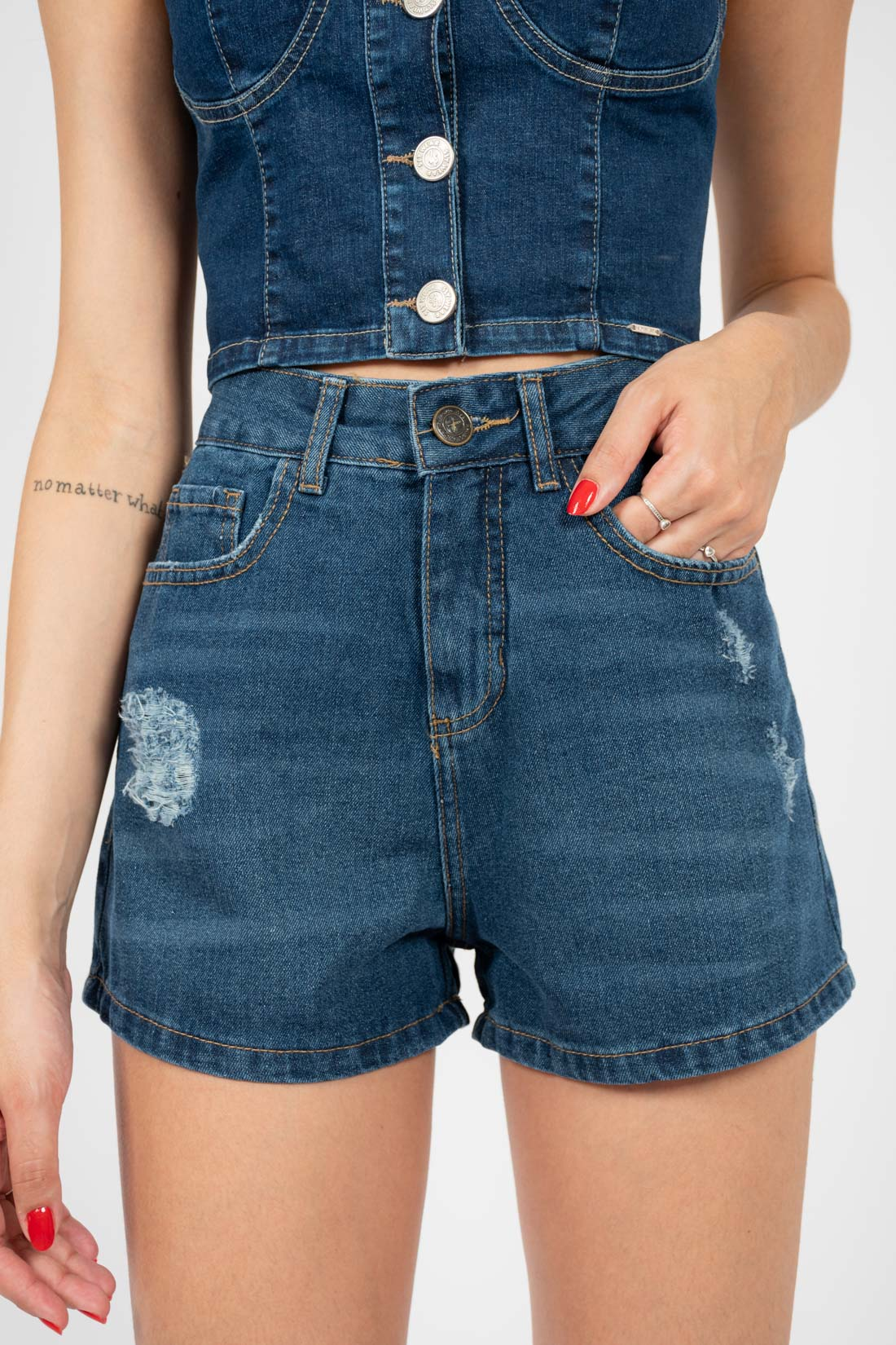 Shorts Jeans Hering Puido