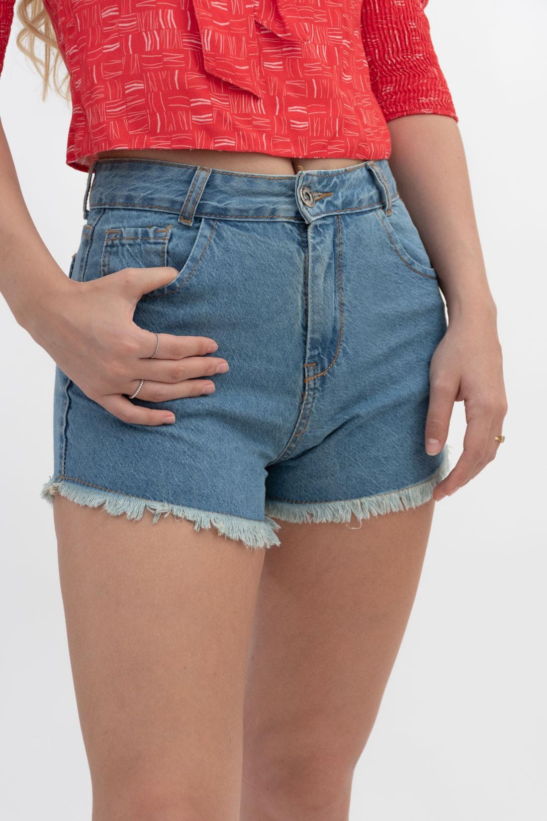 Shorts Jeans Hotpant Desfiado