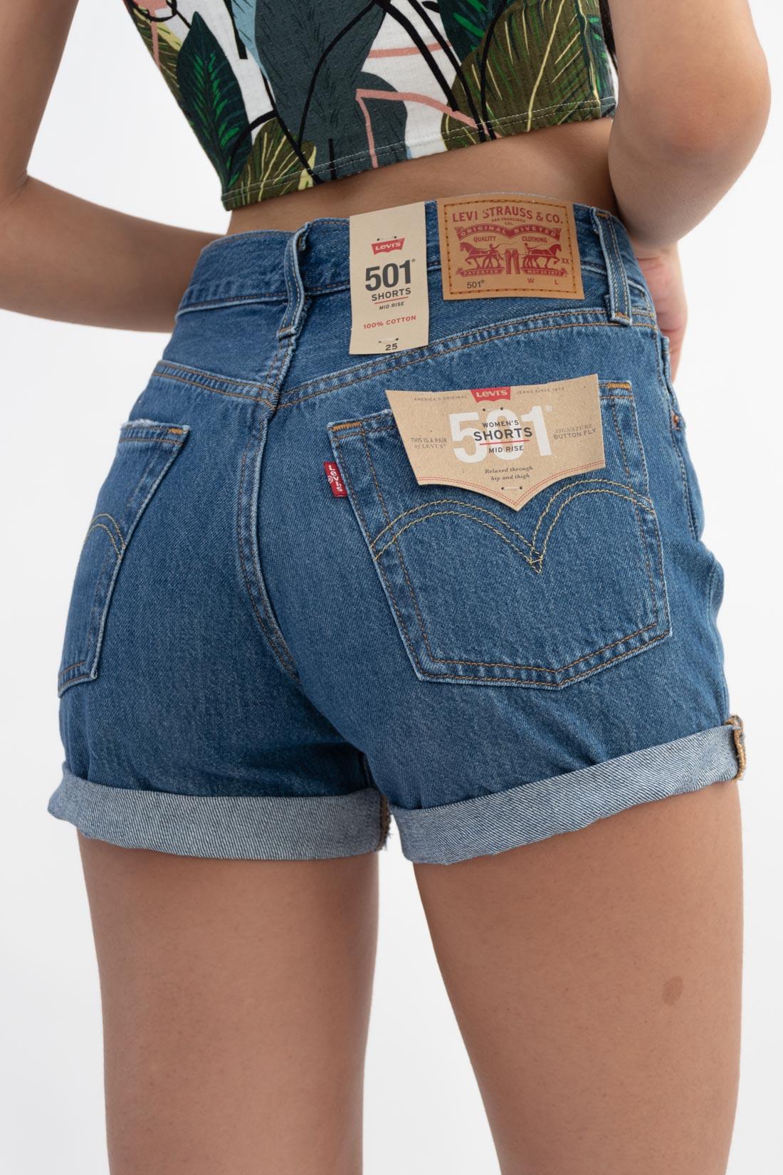 Shorts Jeans Levis 501 Mid Rise