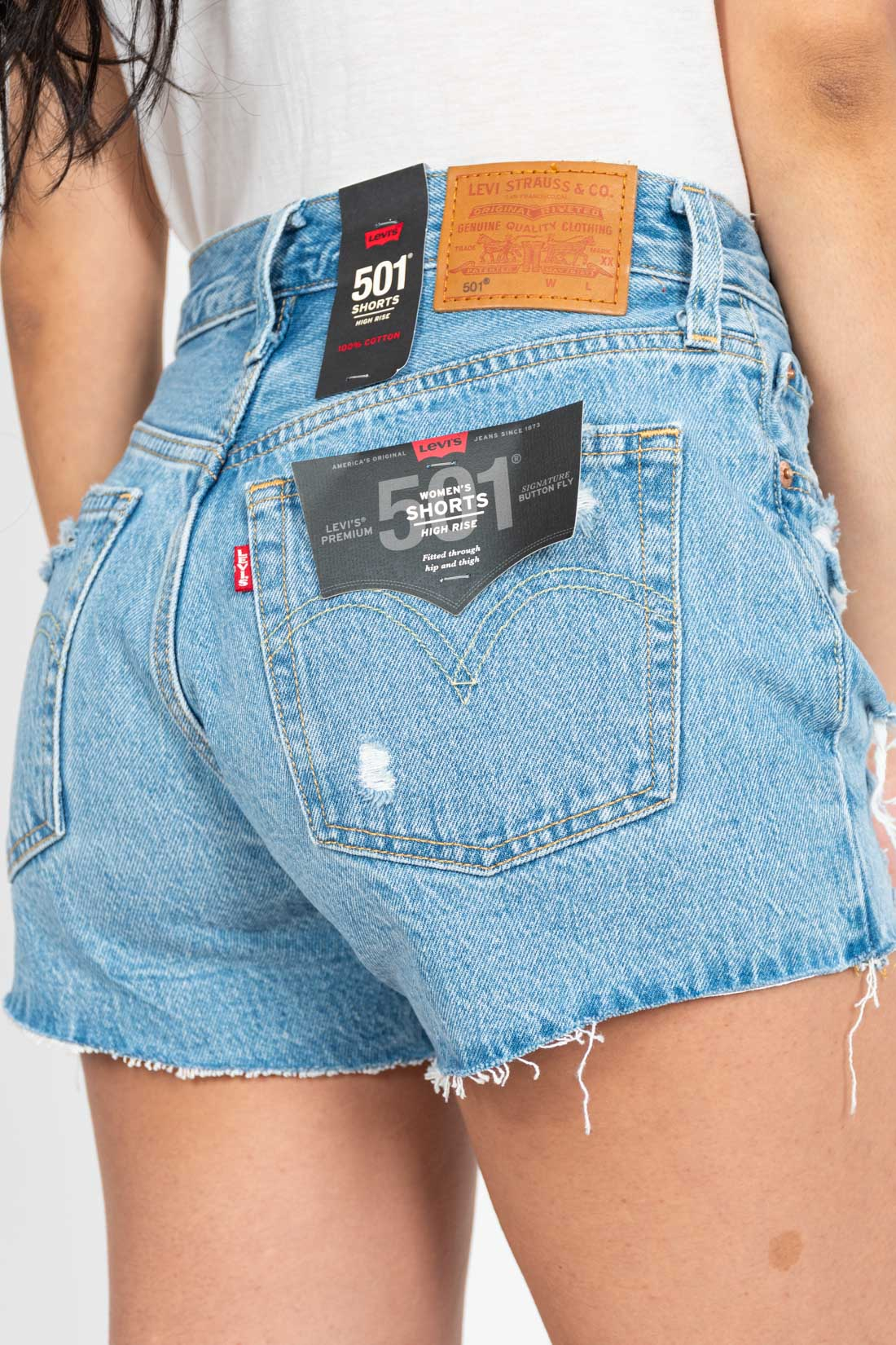 Shorts Jeans Levis Destroyed