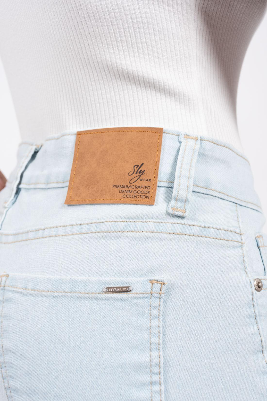 Shorts Jeans Slywear Barra Desfiada