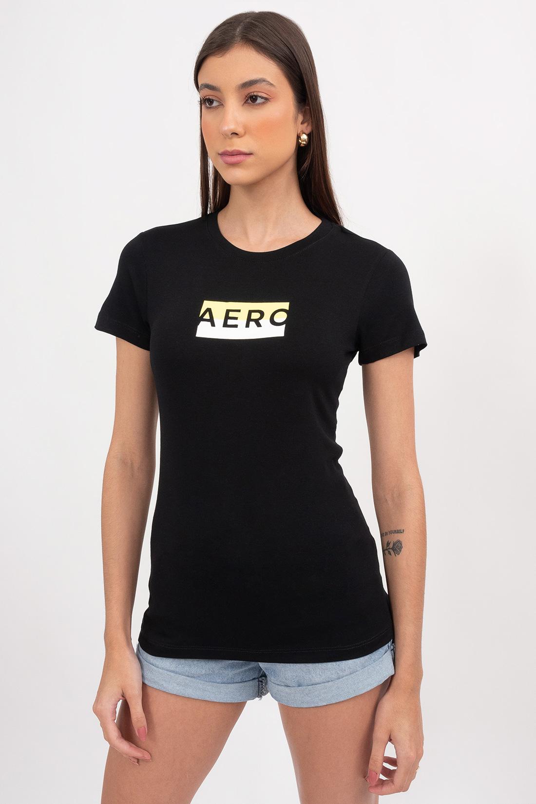 T Shirt Aeropostale Logo Retangulo