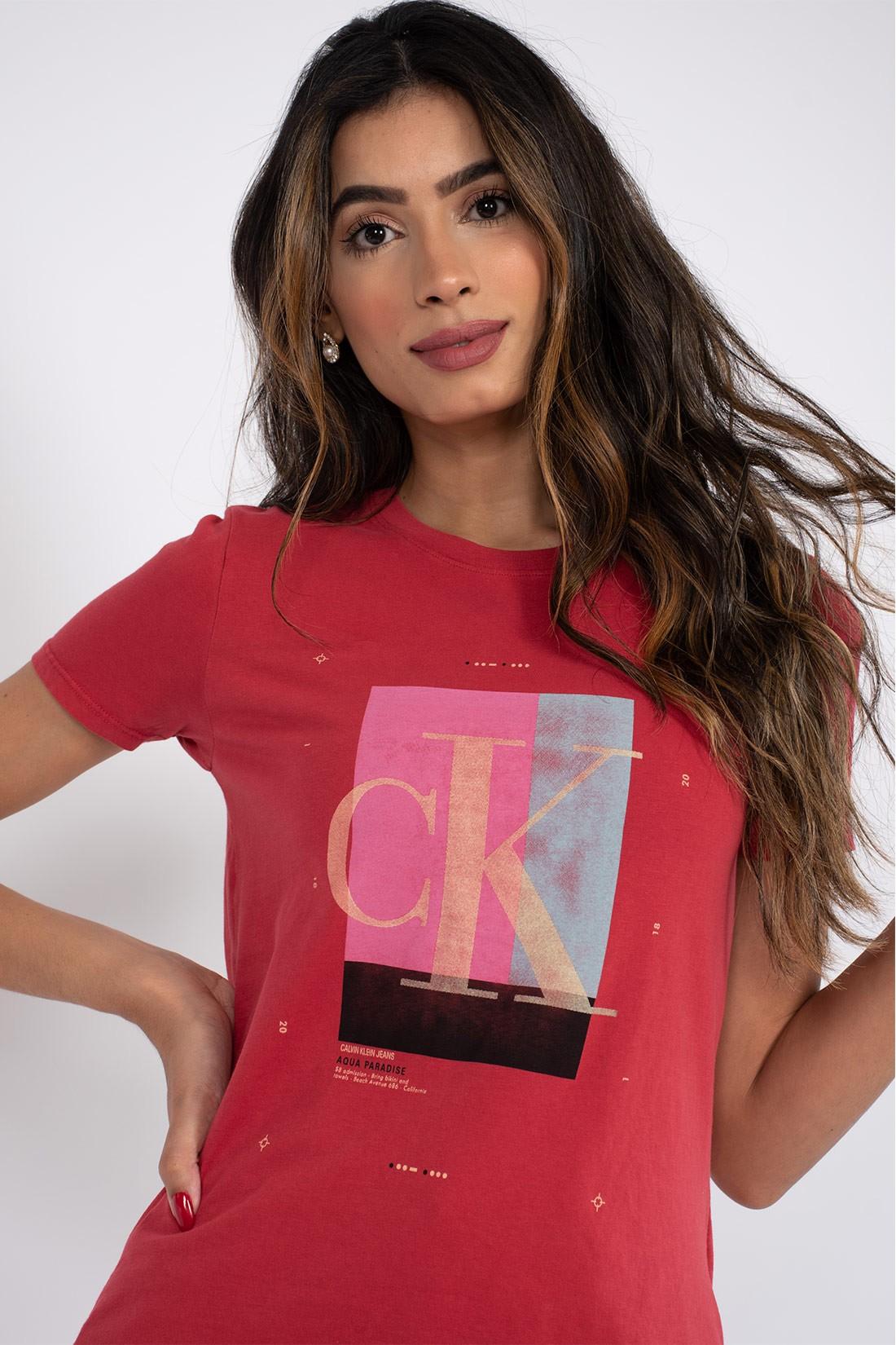 T Shirt Calvin Klein Aqua Paradise
