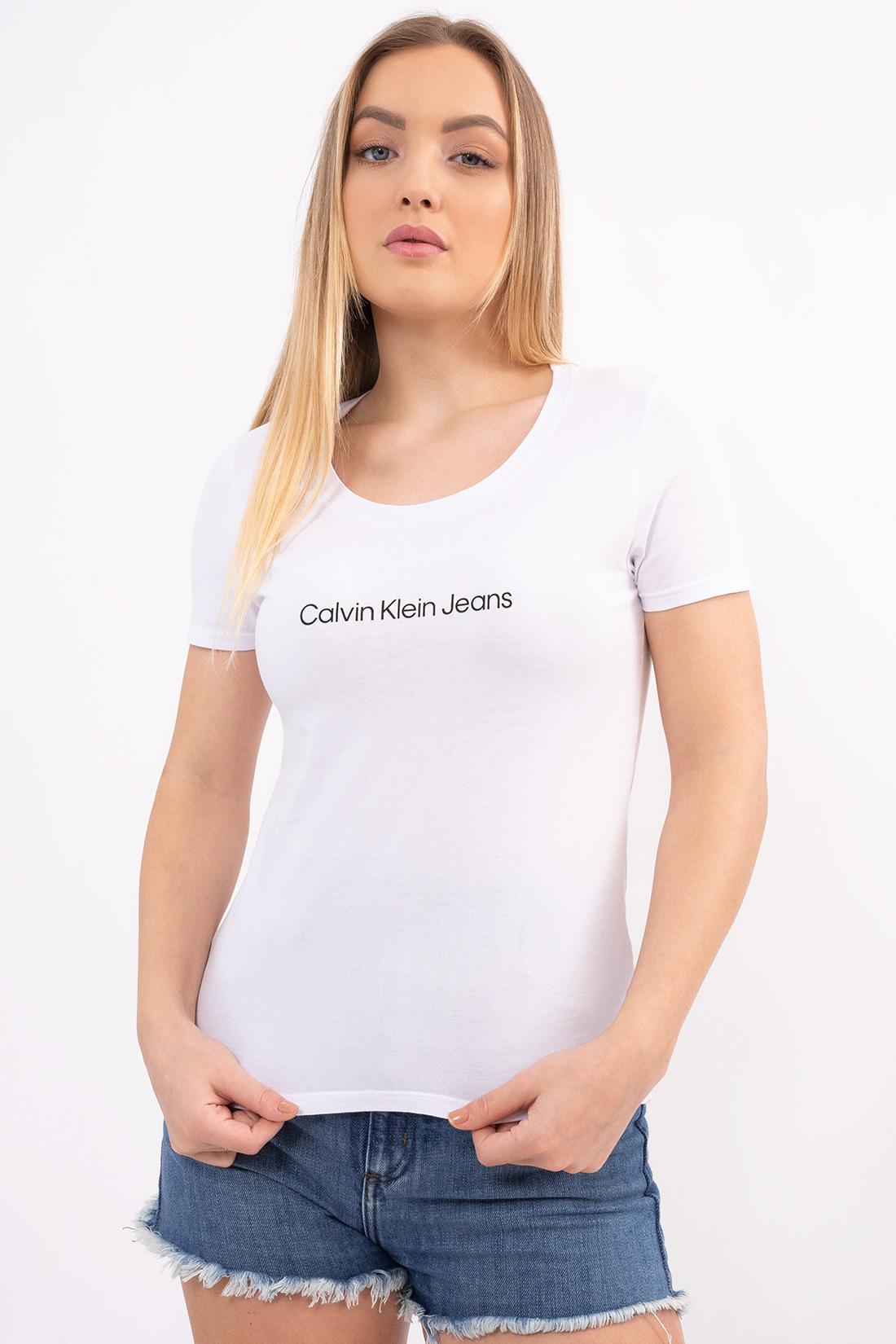 T Shirt Calvin Klein Logo Centro