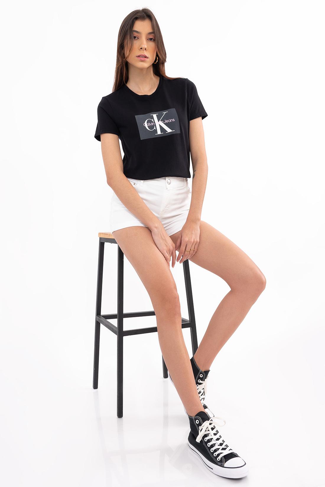 T Shirt Calvin Klein Logo Retangulo
