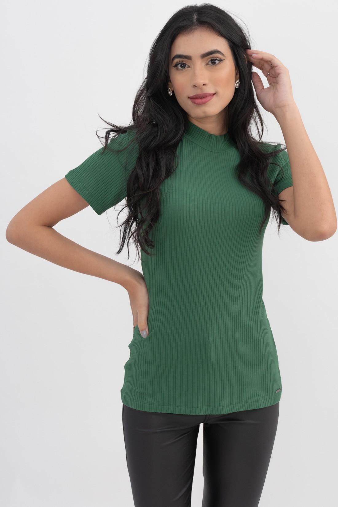T Shirt Colcci Canelada Gola Alta