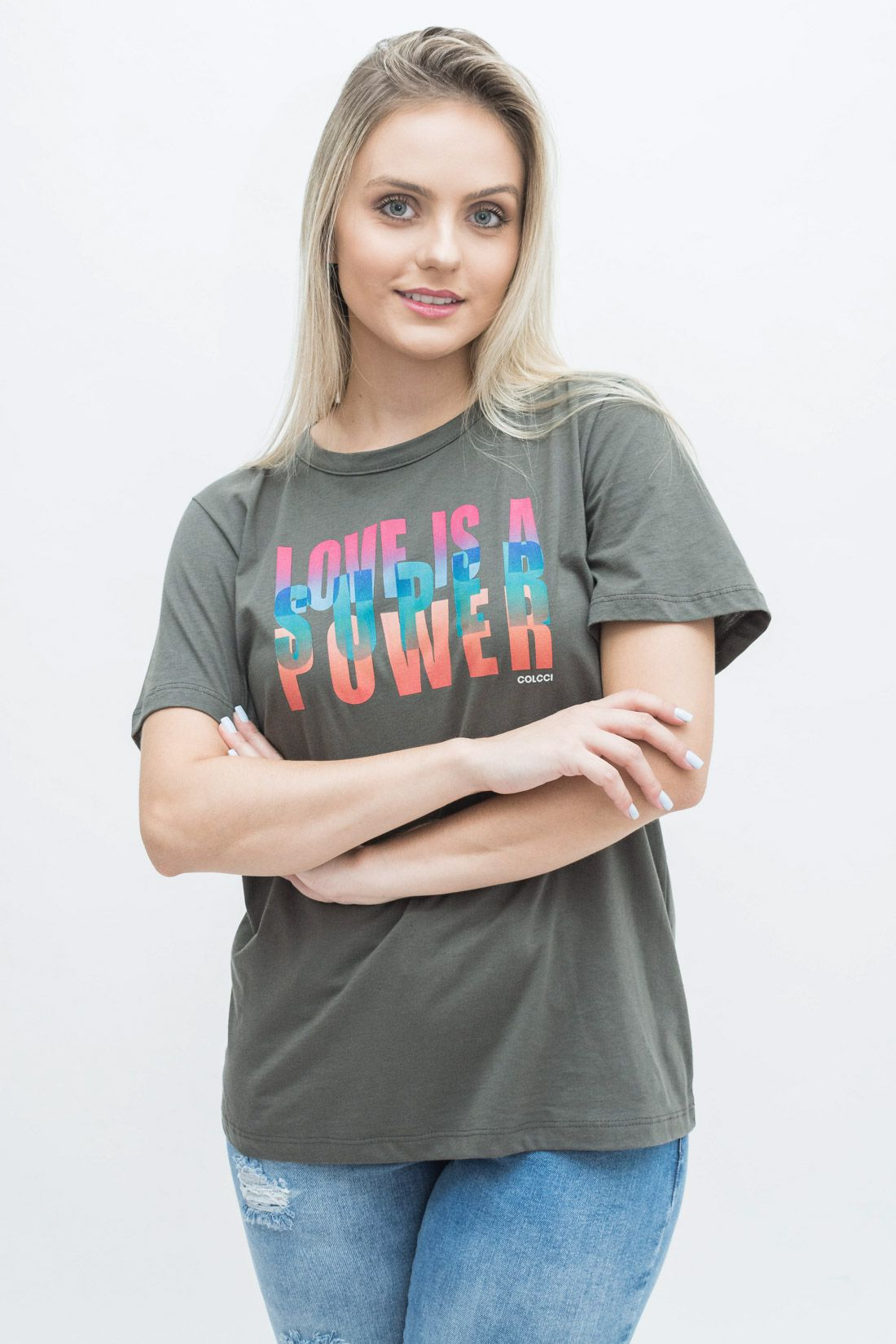 T Shirt Colcci Love Is A Super Power