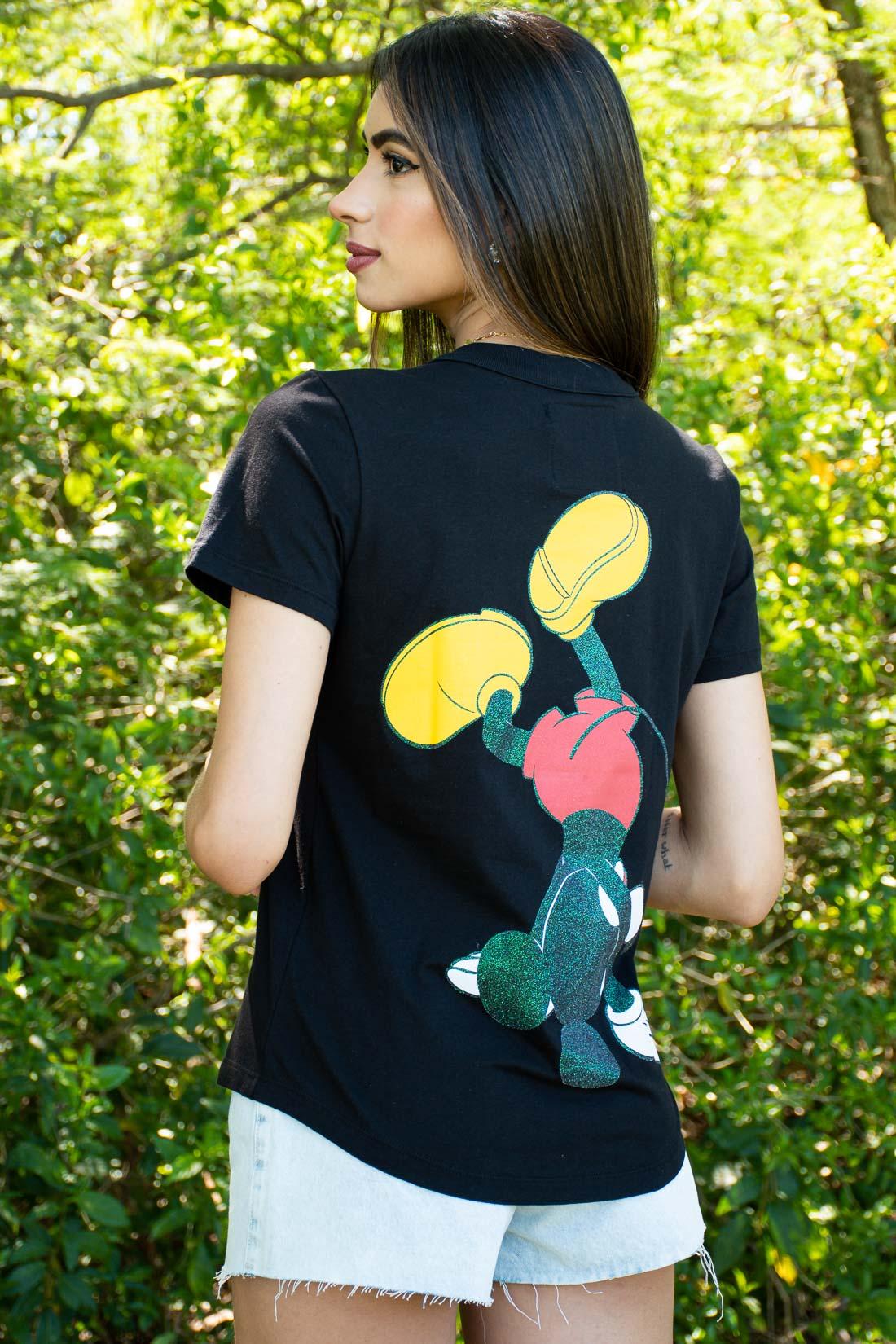 T Shirt Colcci Mickey Glitter