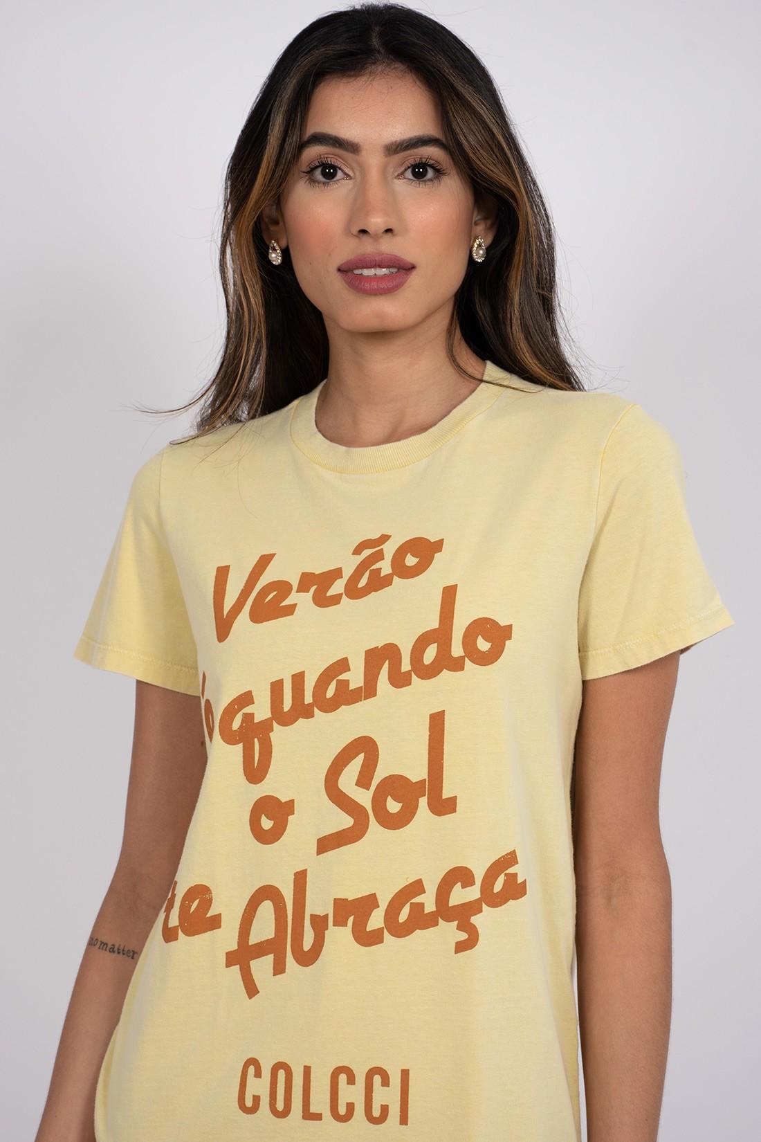 T Shirt Colcci Verao E Quando O Sol Te Abraça
