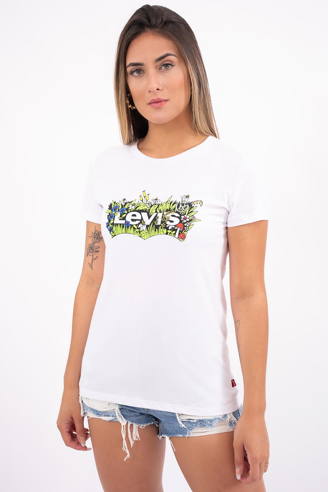 T Shirt Levis Logo Floral