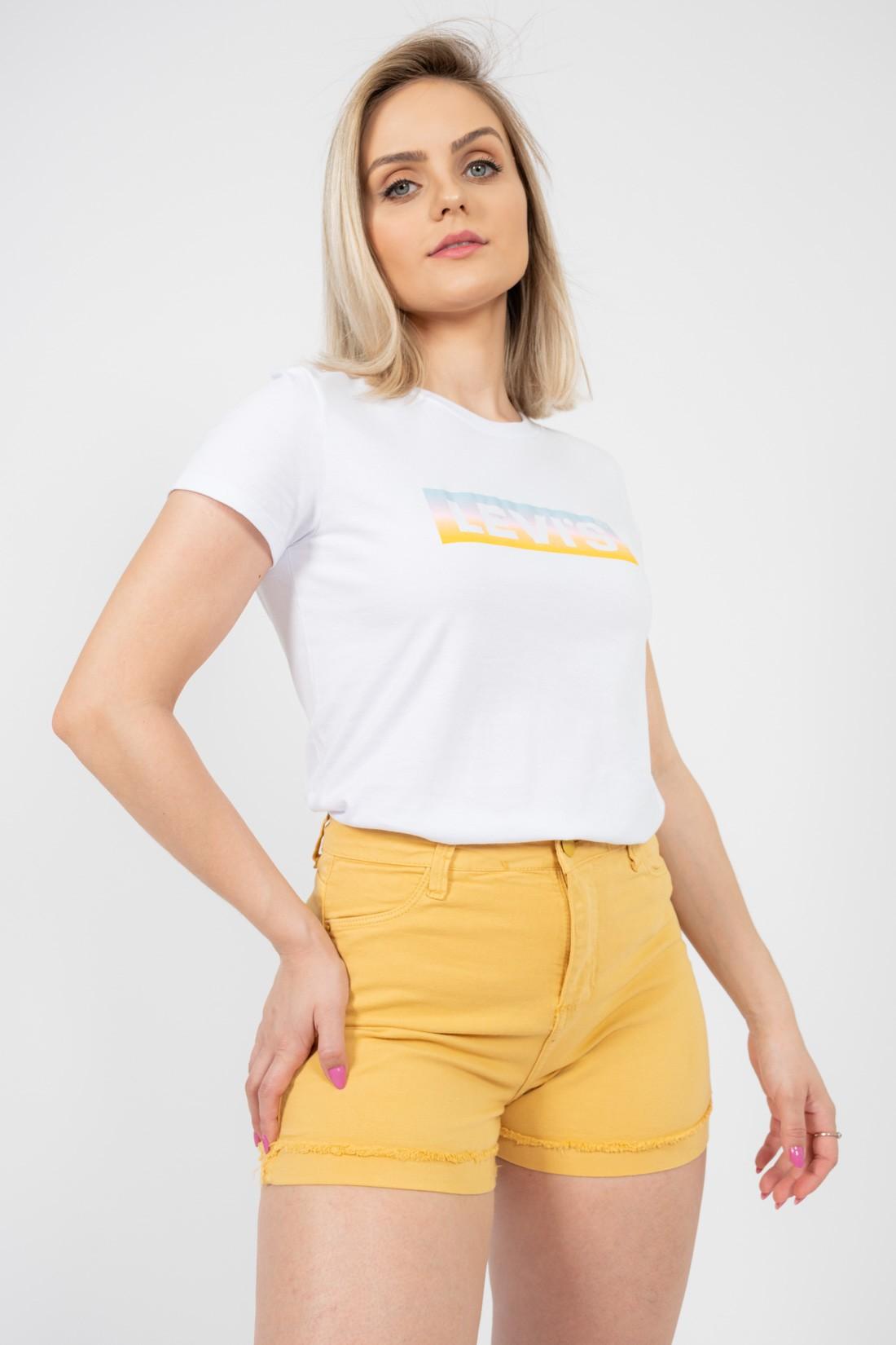 T Shirt Levis Logo Meio Colors