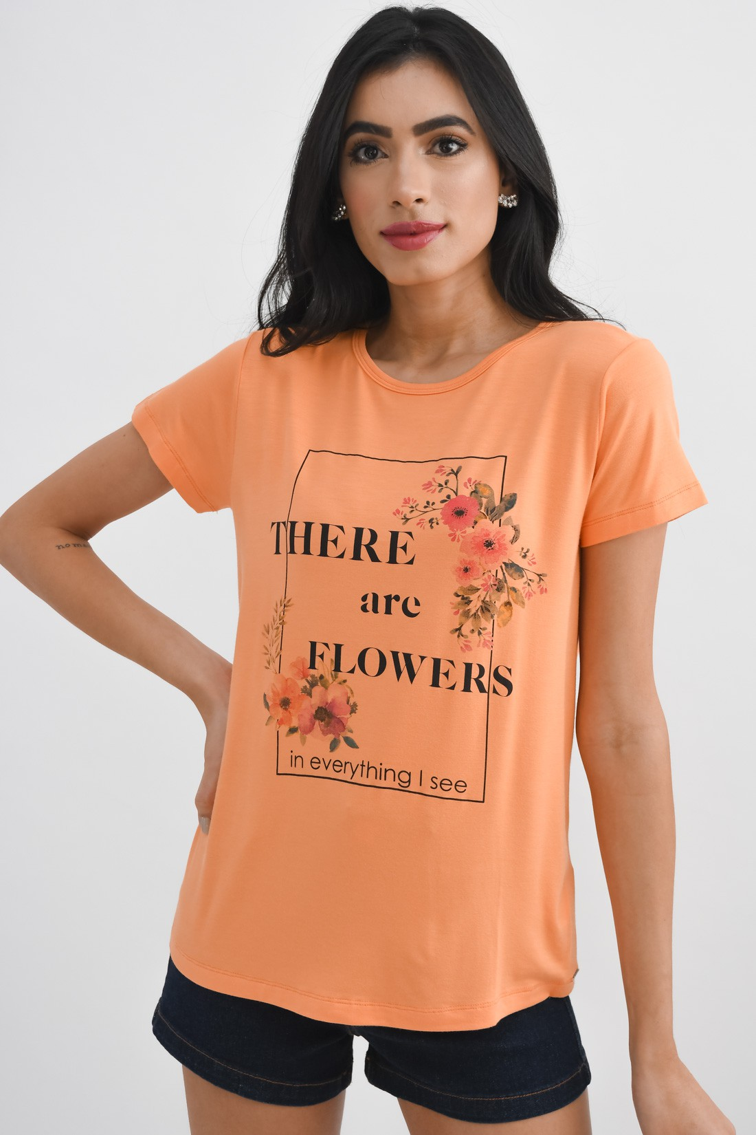 T Shirt Slywear There Are Flowers