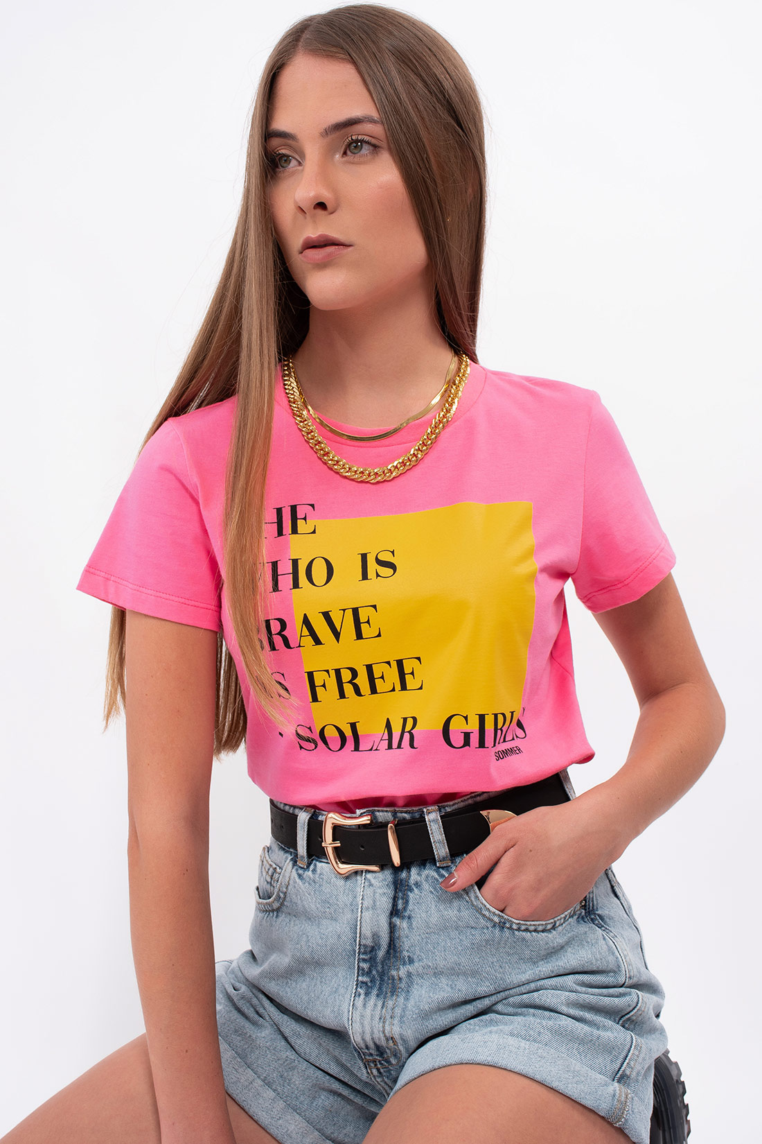 T Shirt Sommer She Who Is Brave Is Free