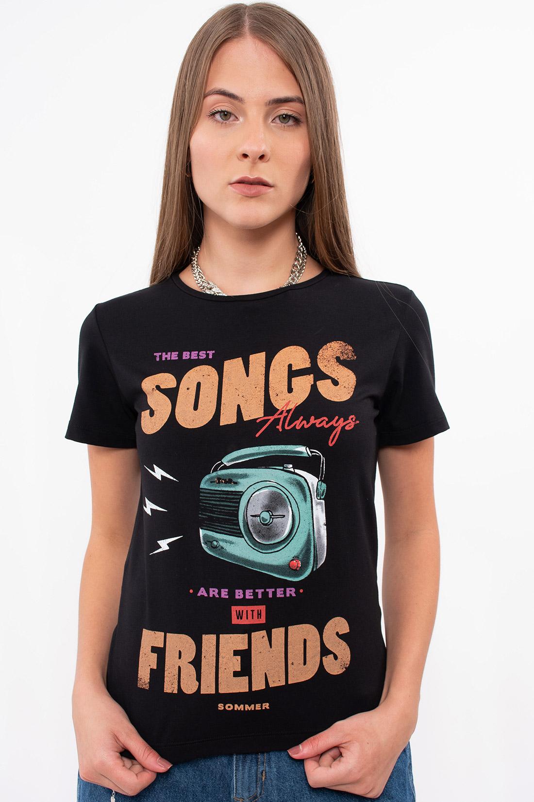 T Shirt Sommer Songs Friends