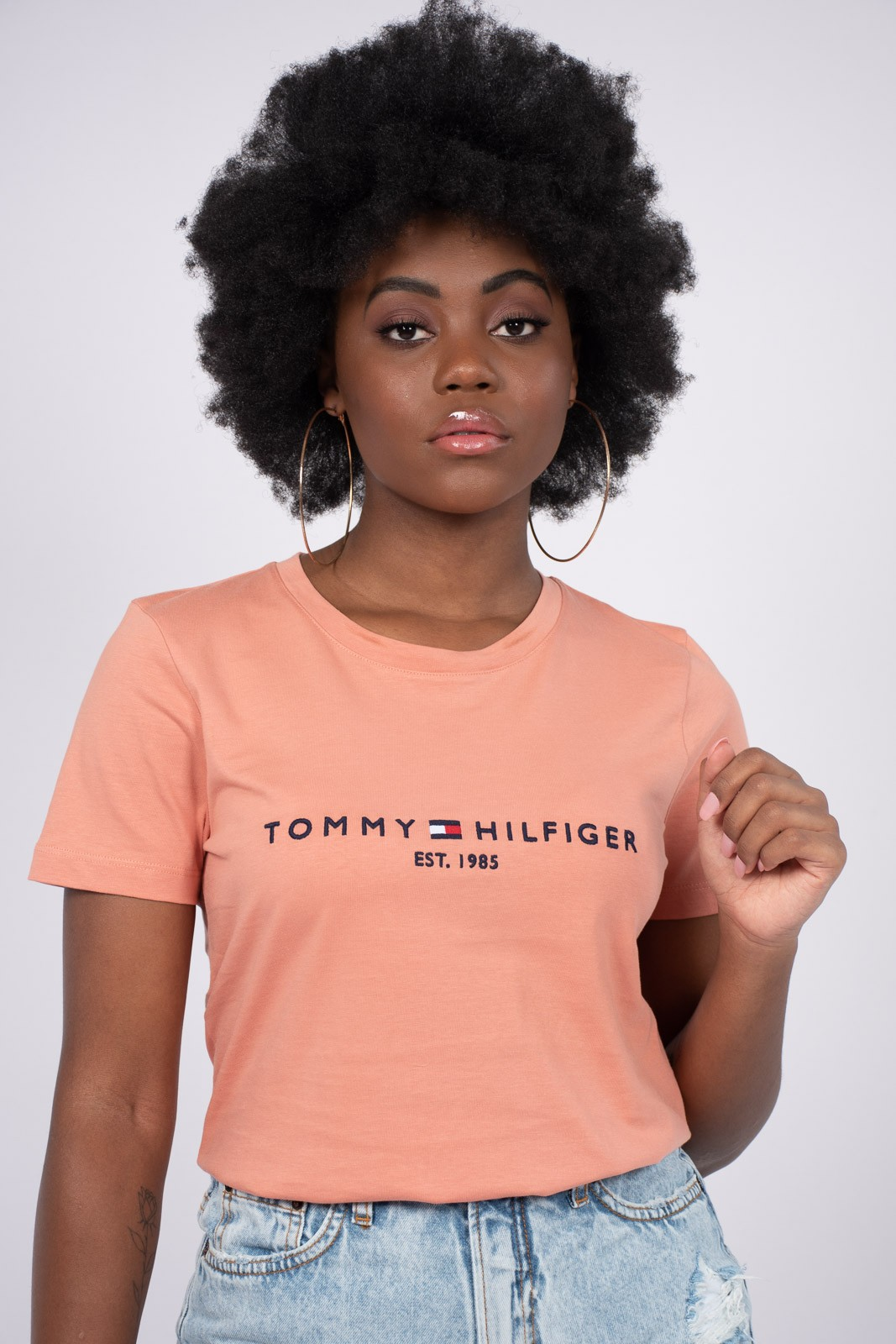 T Shirt Tommy Hilfiger Logo Bordado