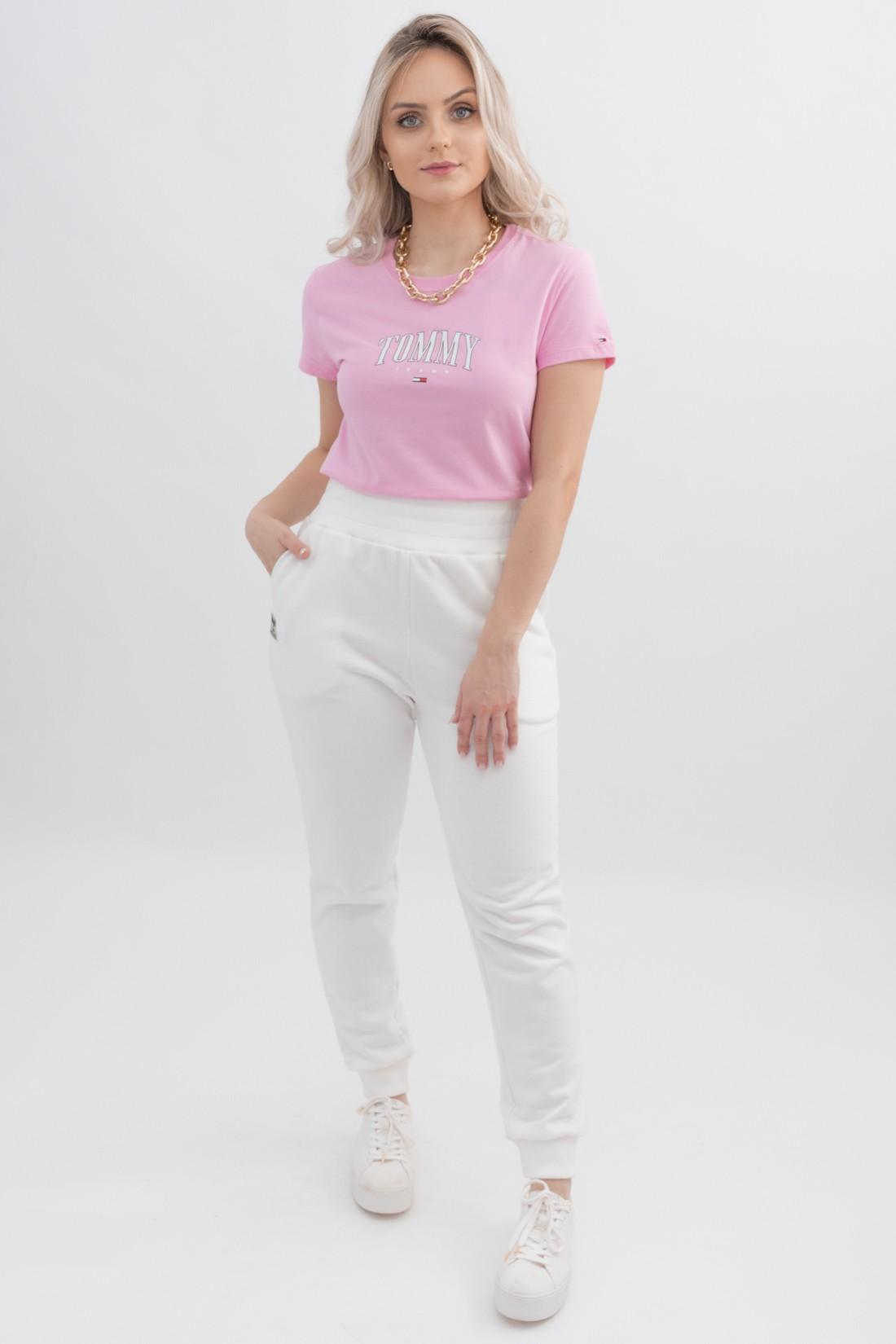 T Shirt Tommy Hilfiger Logo Meio