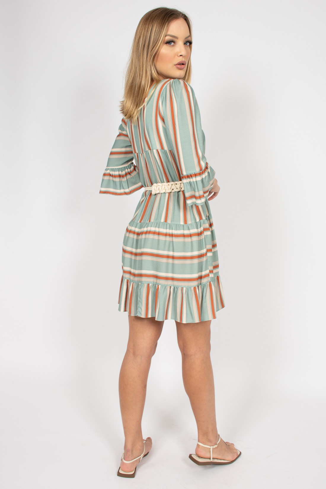 Vestido Ave Rara Stripe Color