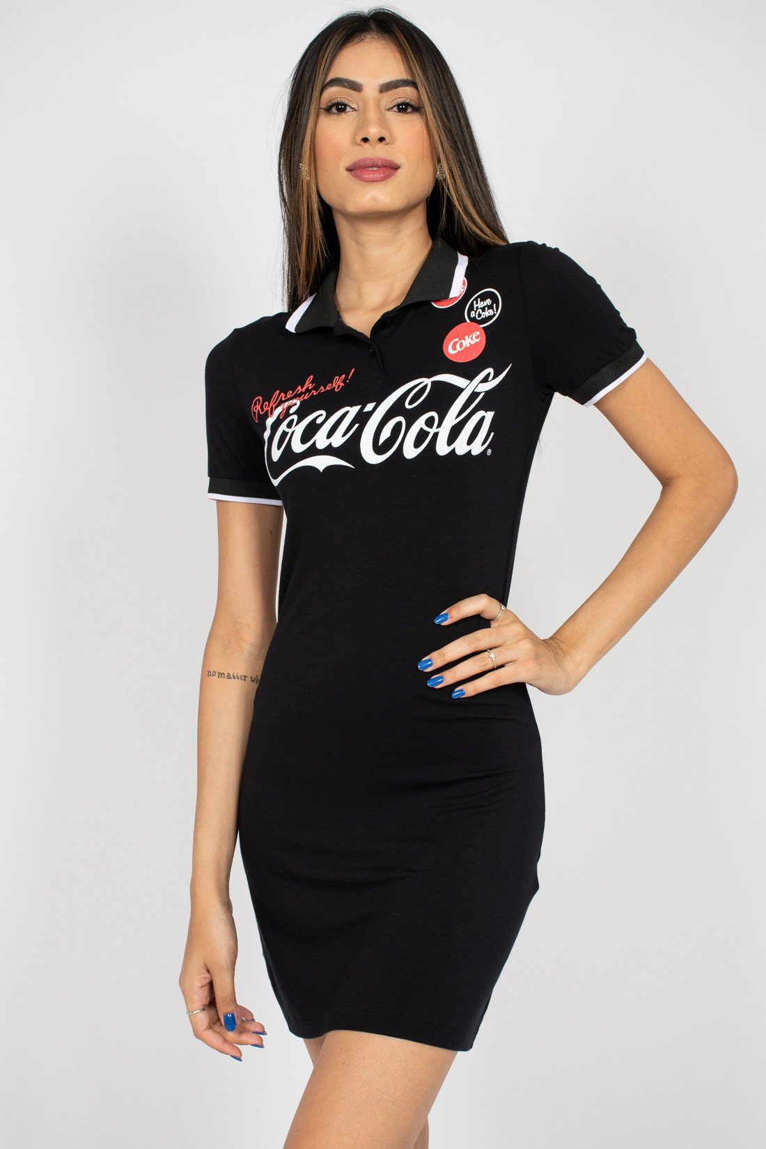 Vestido Coca Cola Gola Polo