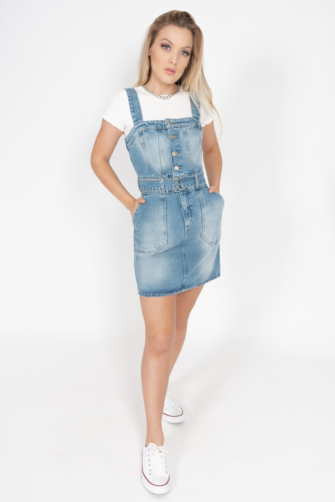 Vestido Jeans Colcci Com Cinto