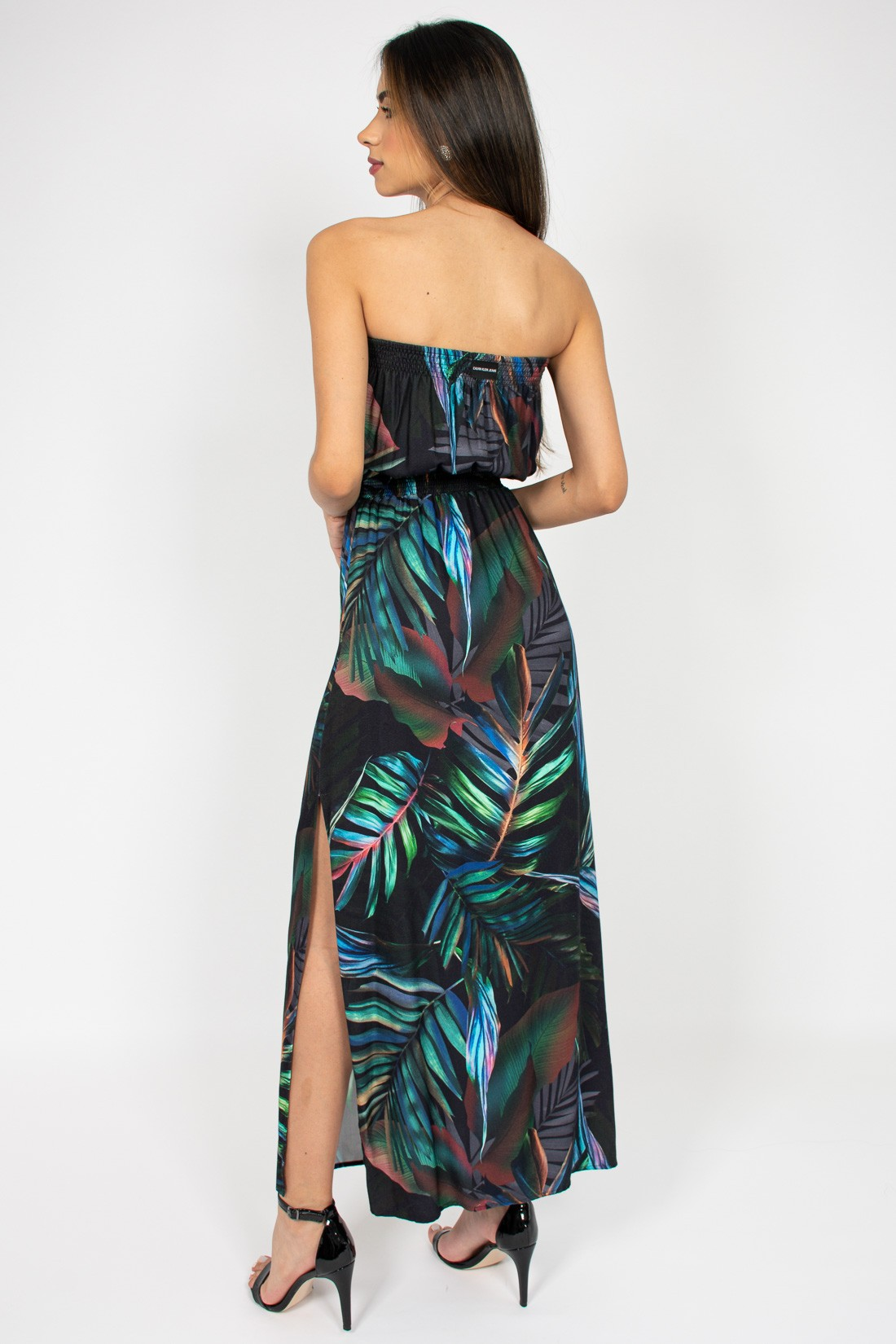 Vestido Longo Calvin Klein Palm Brise
