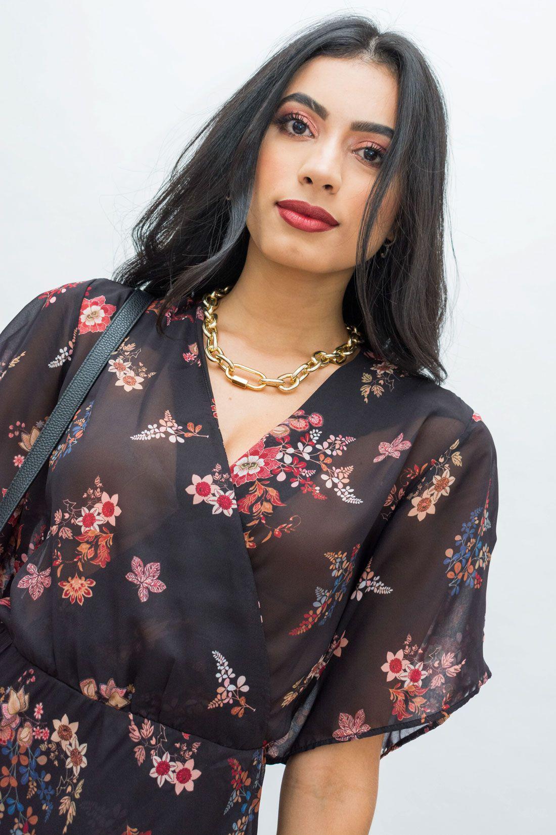 Vestido Longo Slywear Floral